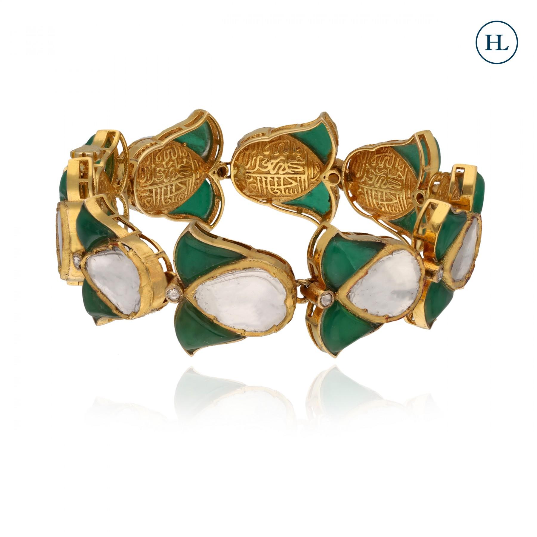 Emerald & Polki Bracelet