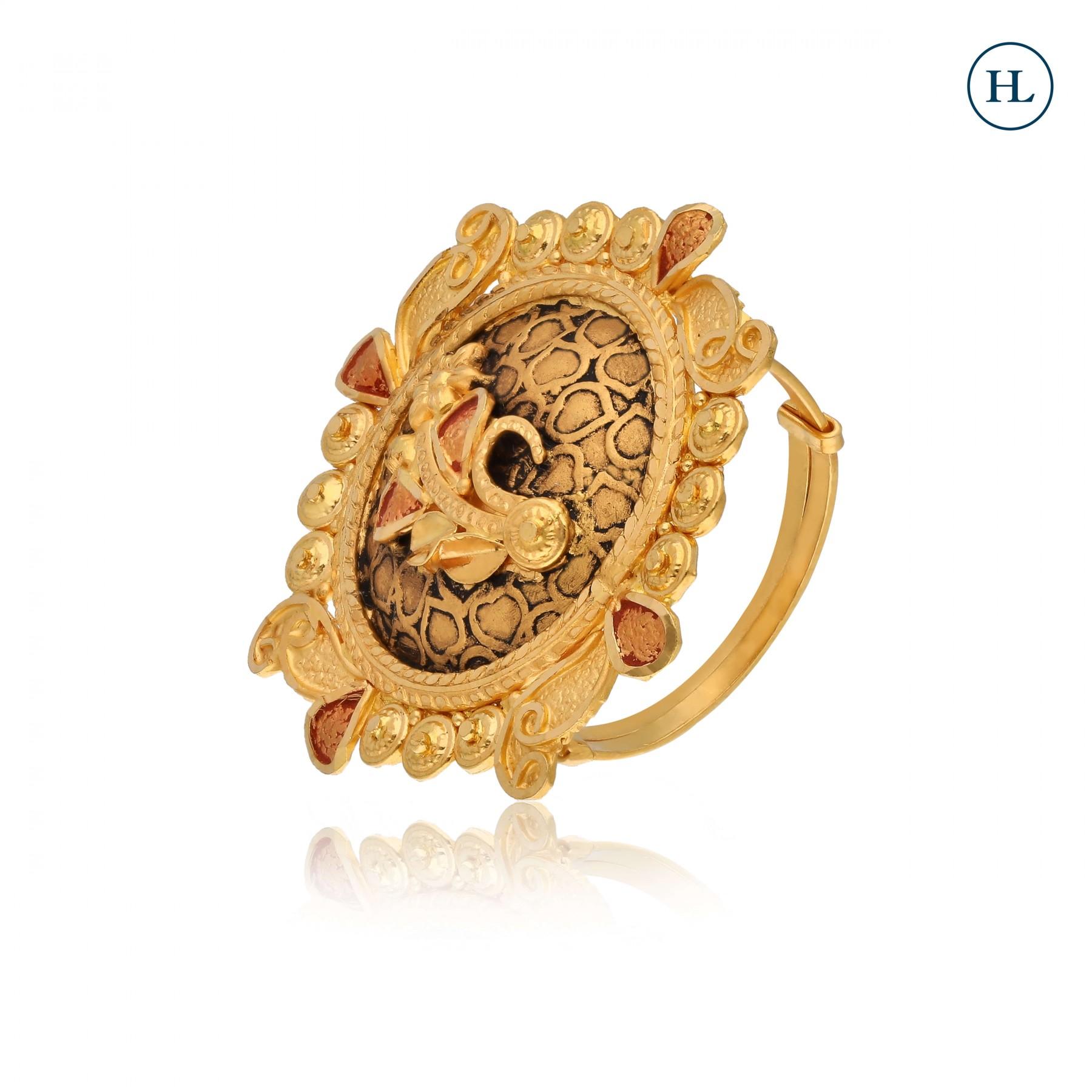 Shine Flower Gold Ring