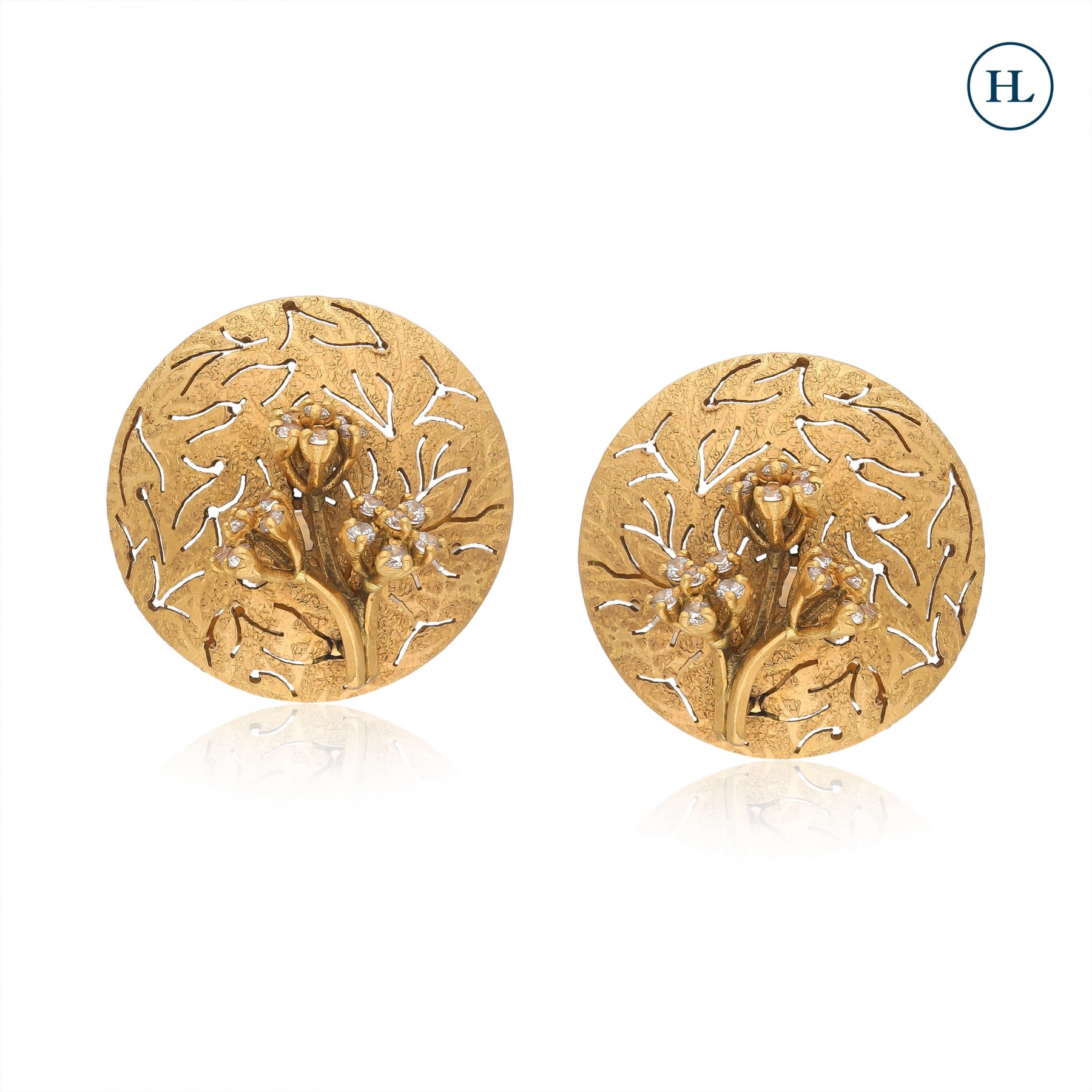Antique-Styled Flower Gold Tops