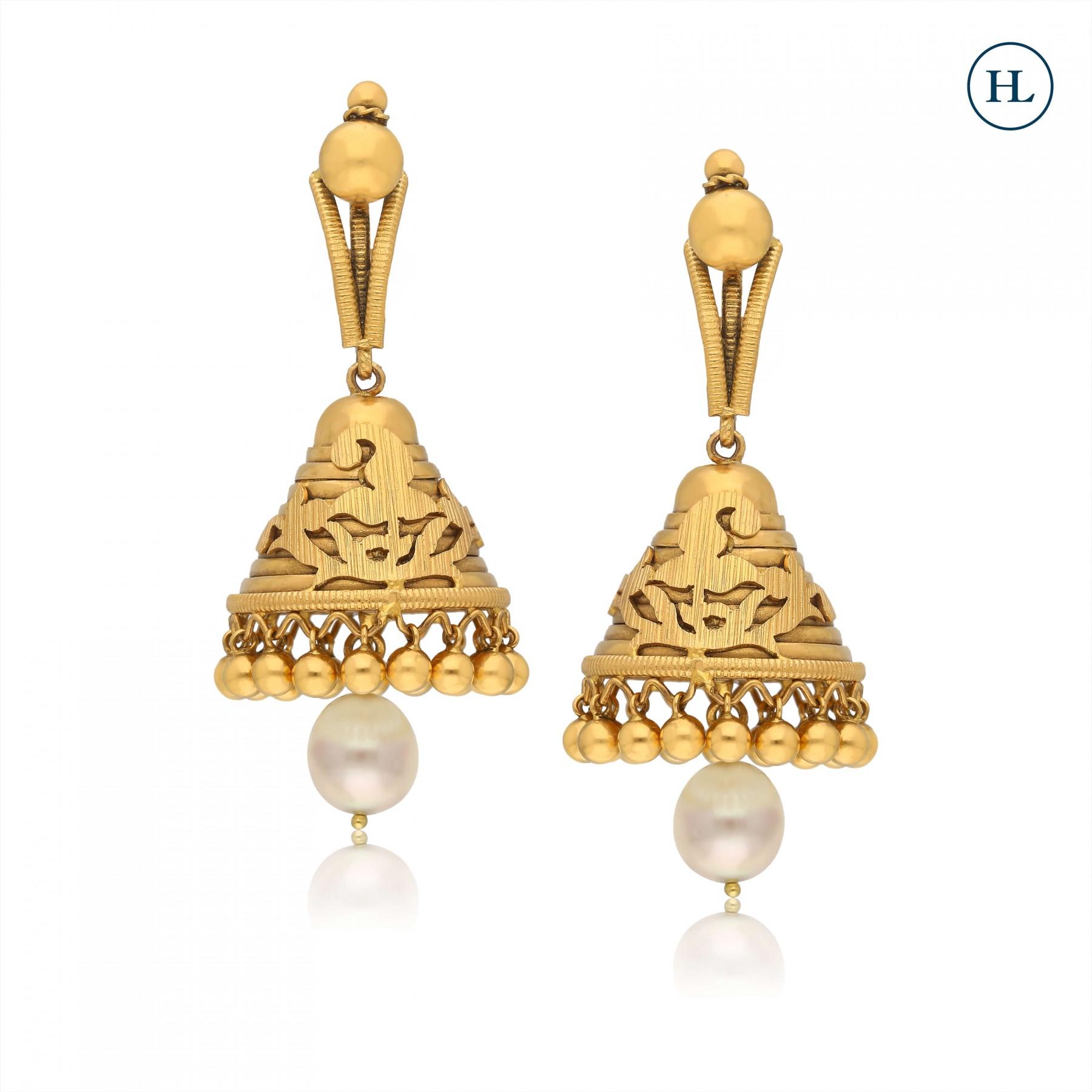 Pearl & Gold Jhumki