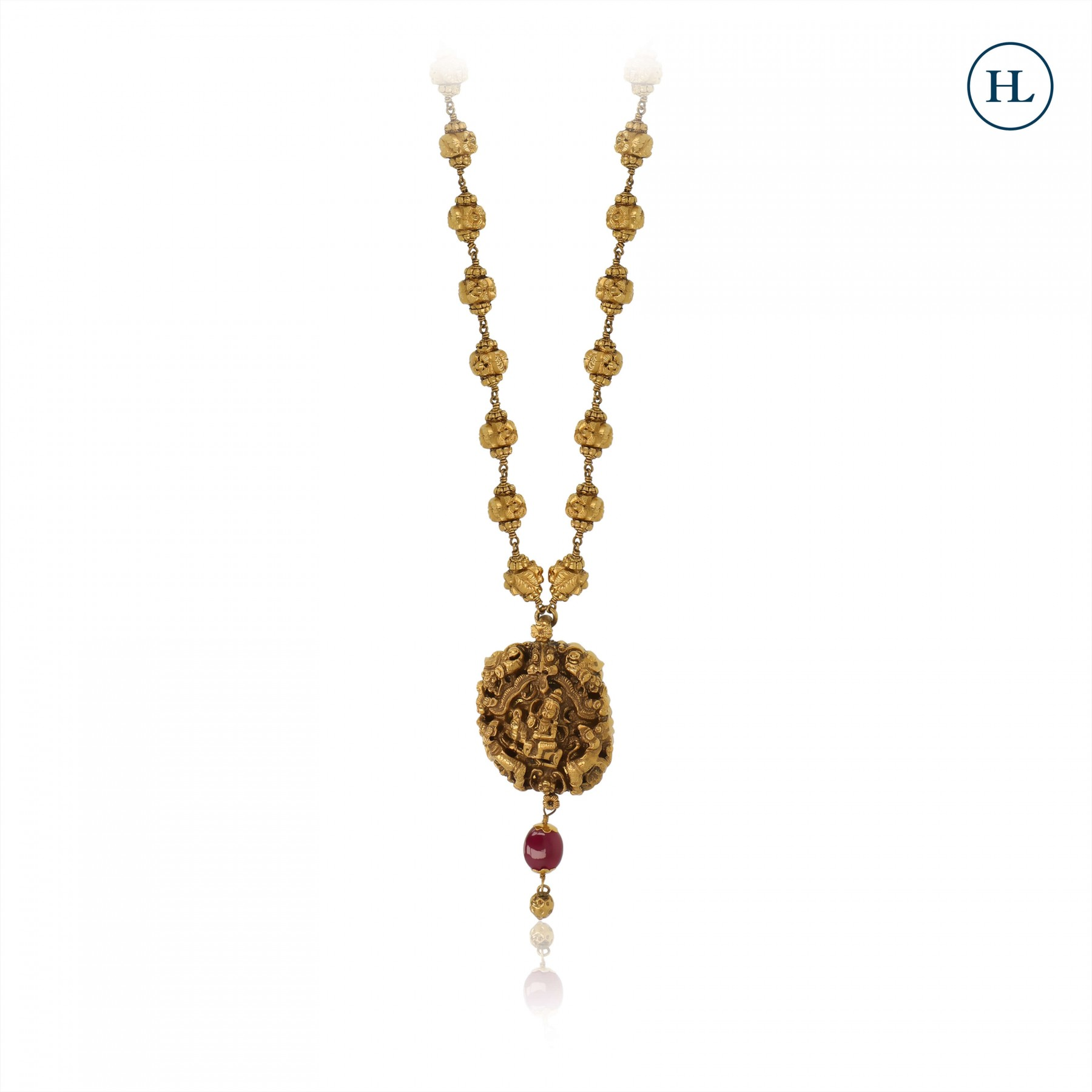 Antique-Styled Temple Gold Pendant