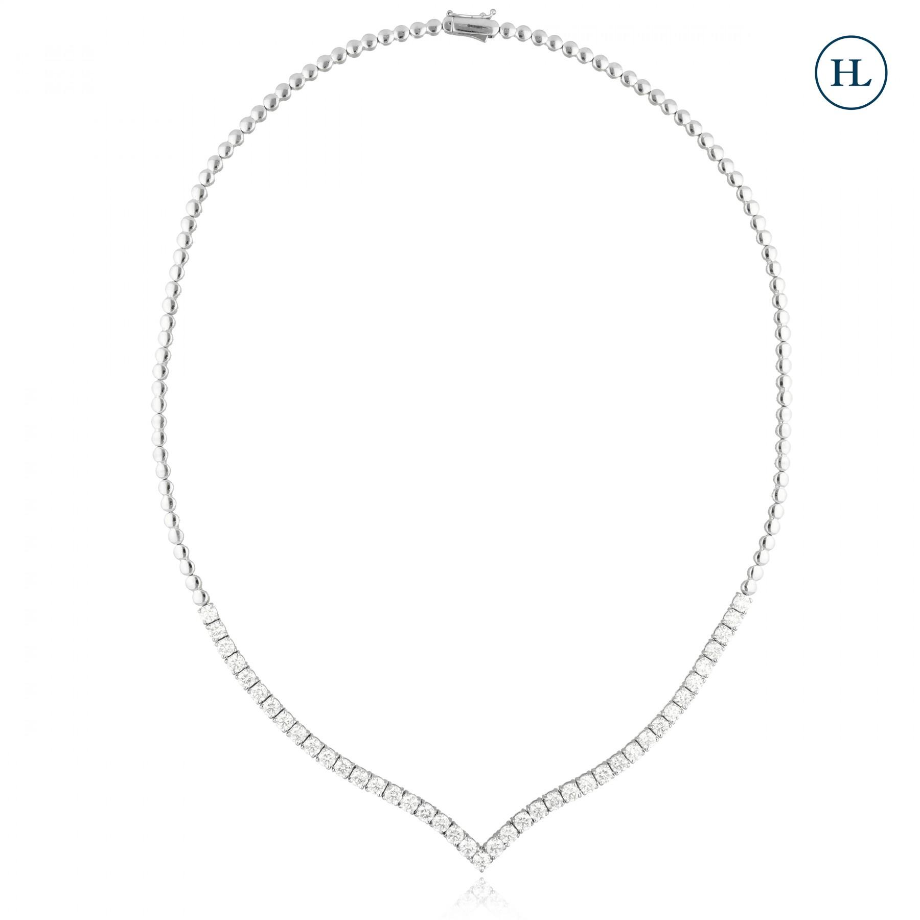 Versatile Single Line Diamond Necklace