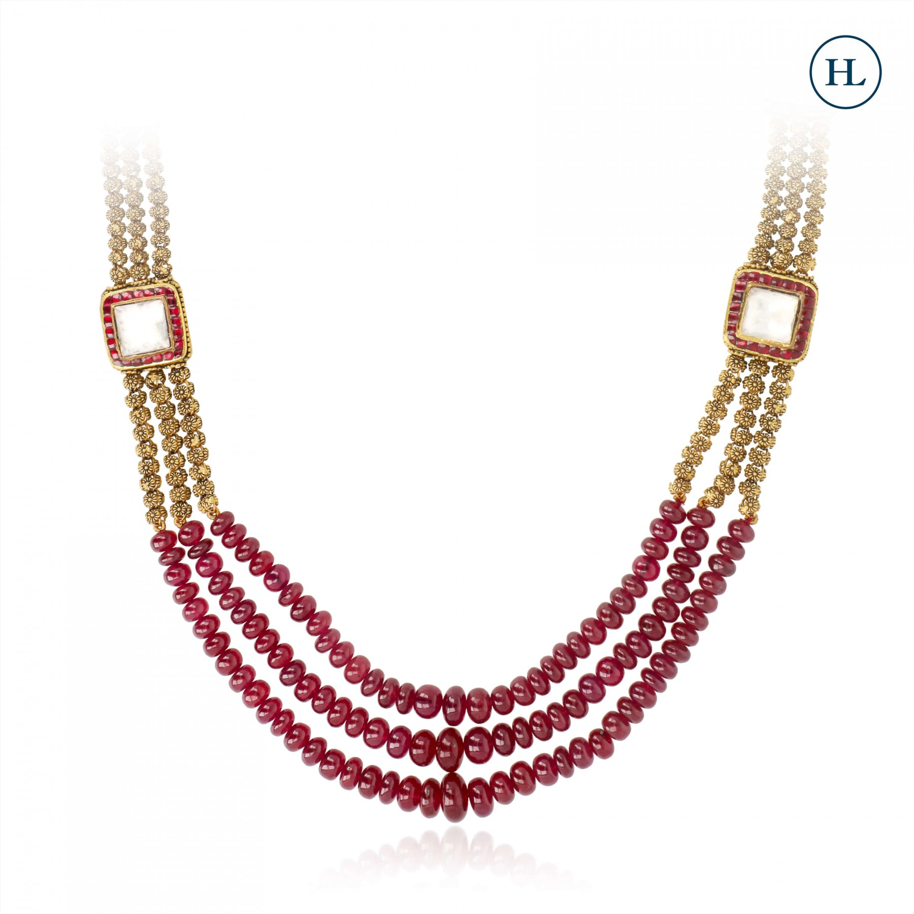 Ruby & Gold Chain