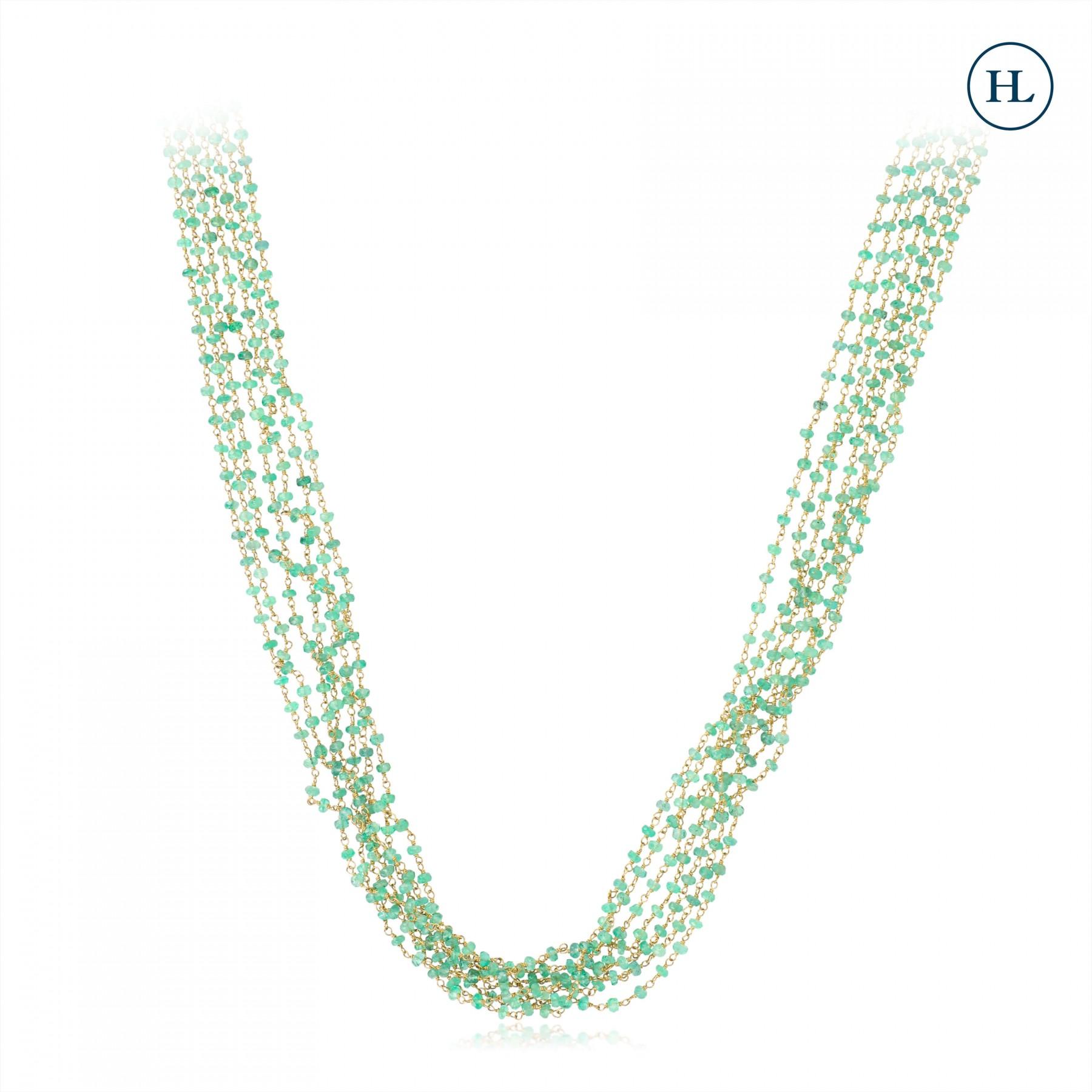 Emerald & Gold Chain