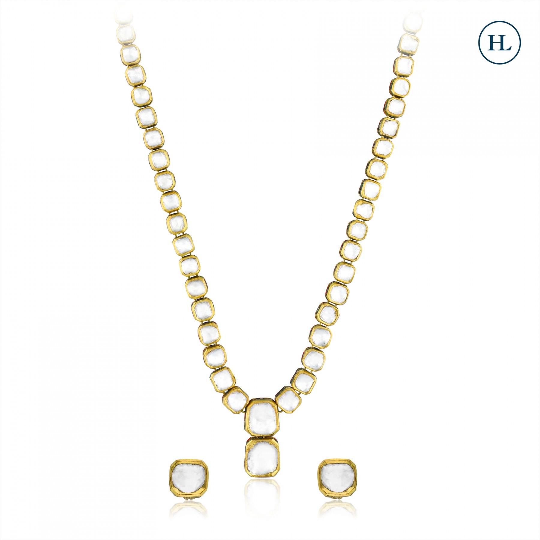 Polki String Necklace Set