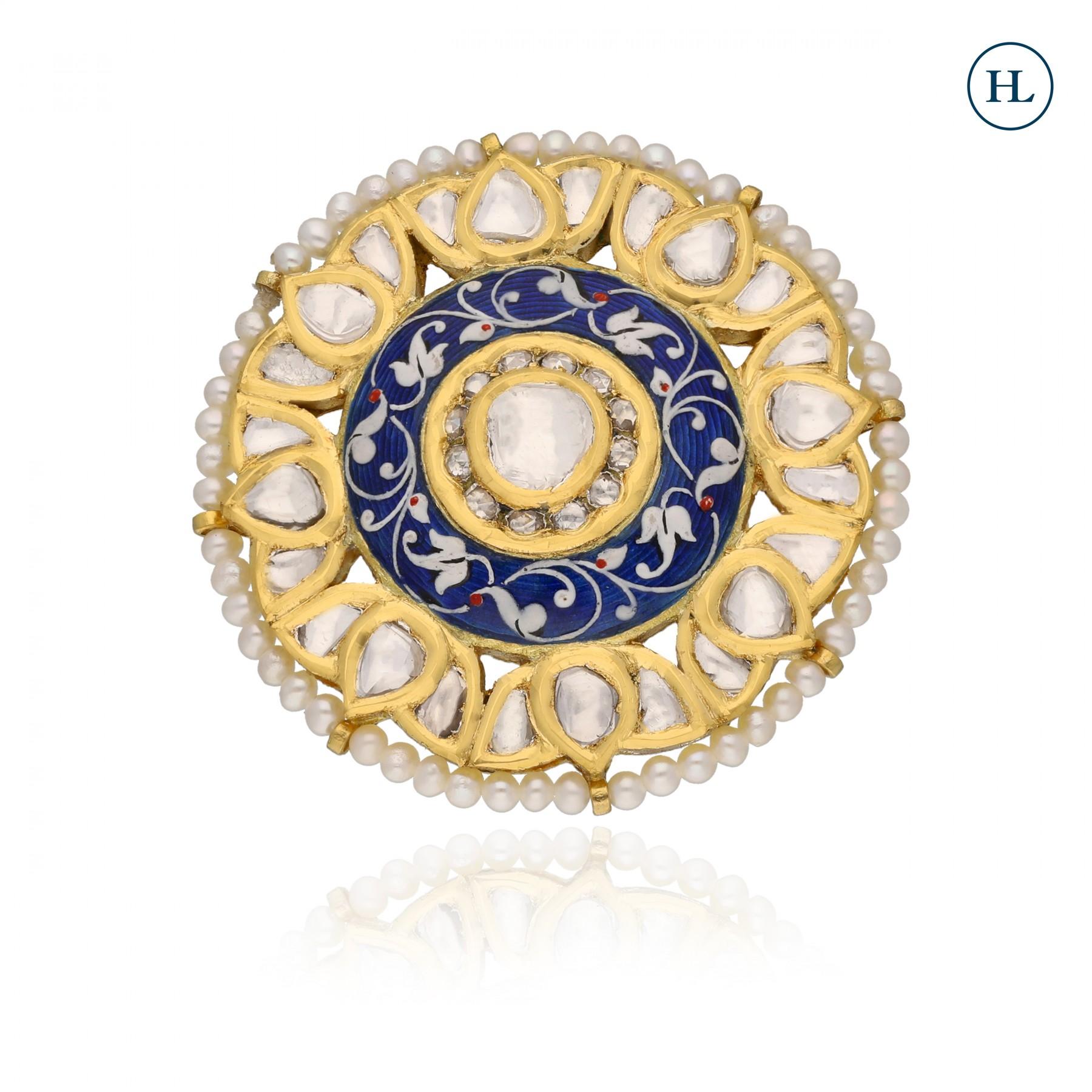 Polki & Pearl Ring