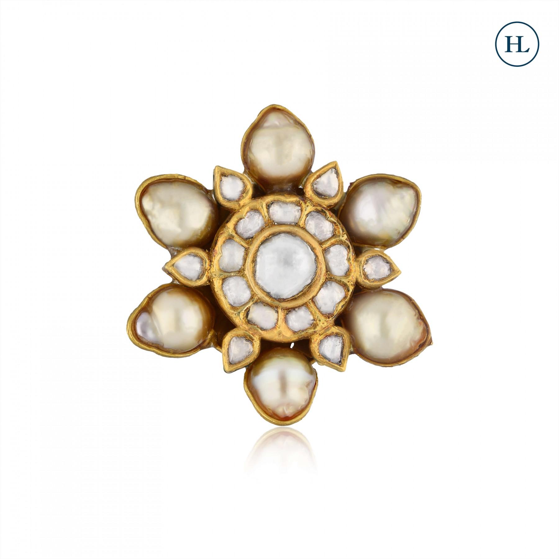 Pearl & Polki Ring