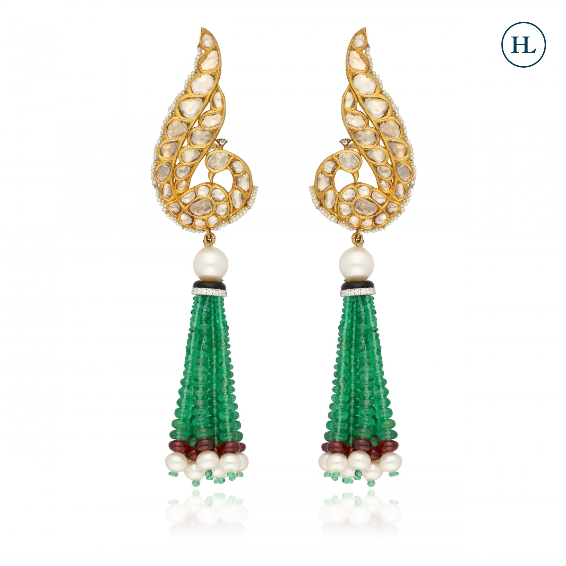 Polki Tassel Earrings