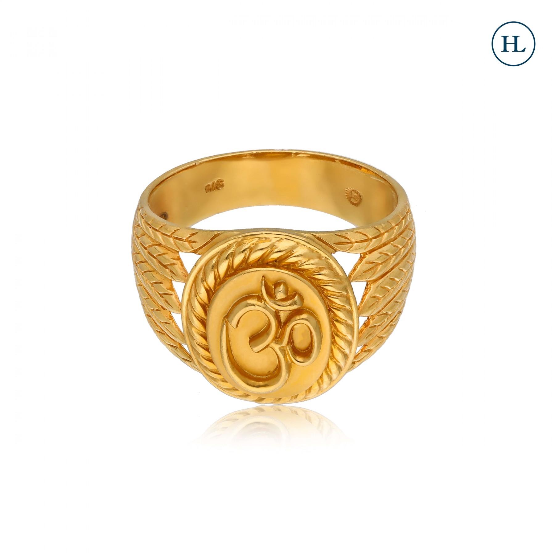OM Gold Ring