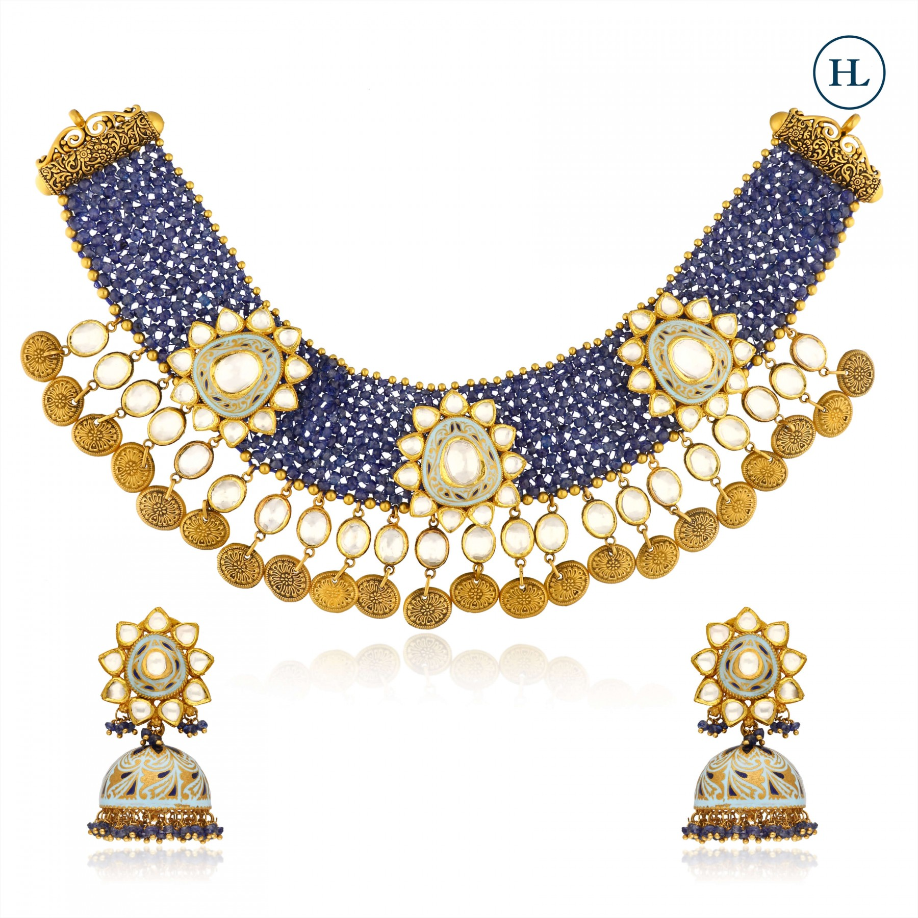 Kundan & Gold Necklace Set