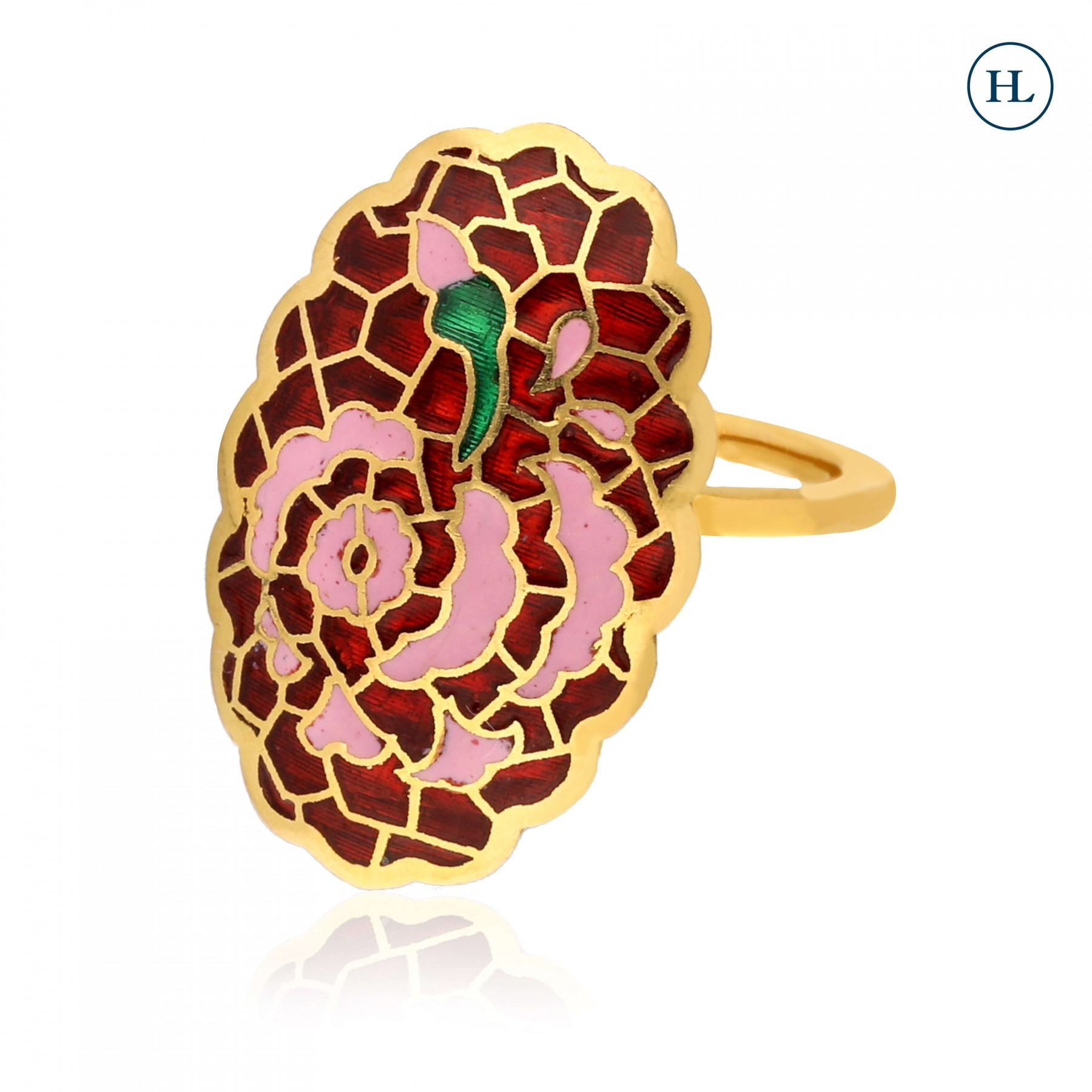 Gold Enamel Shine Ring