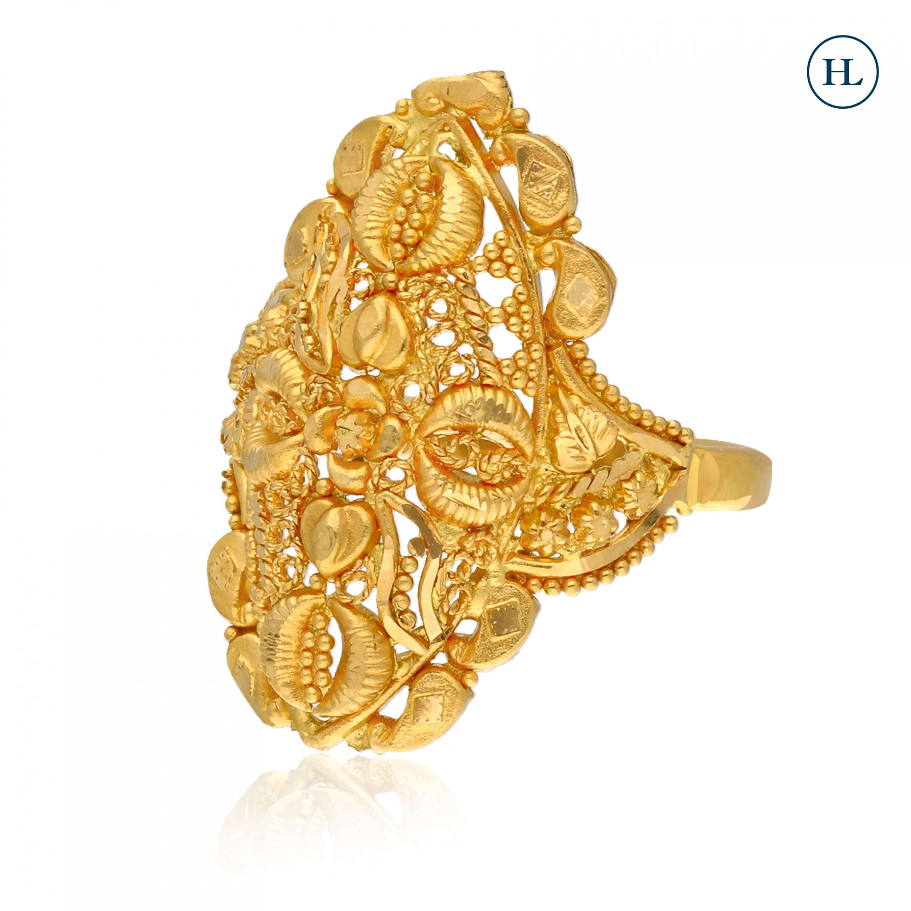 Gold Chitrai Ring