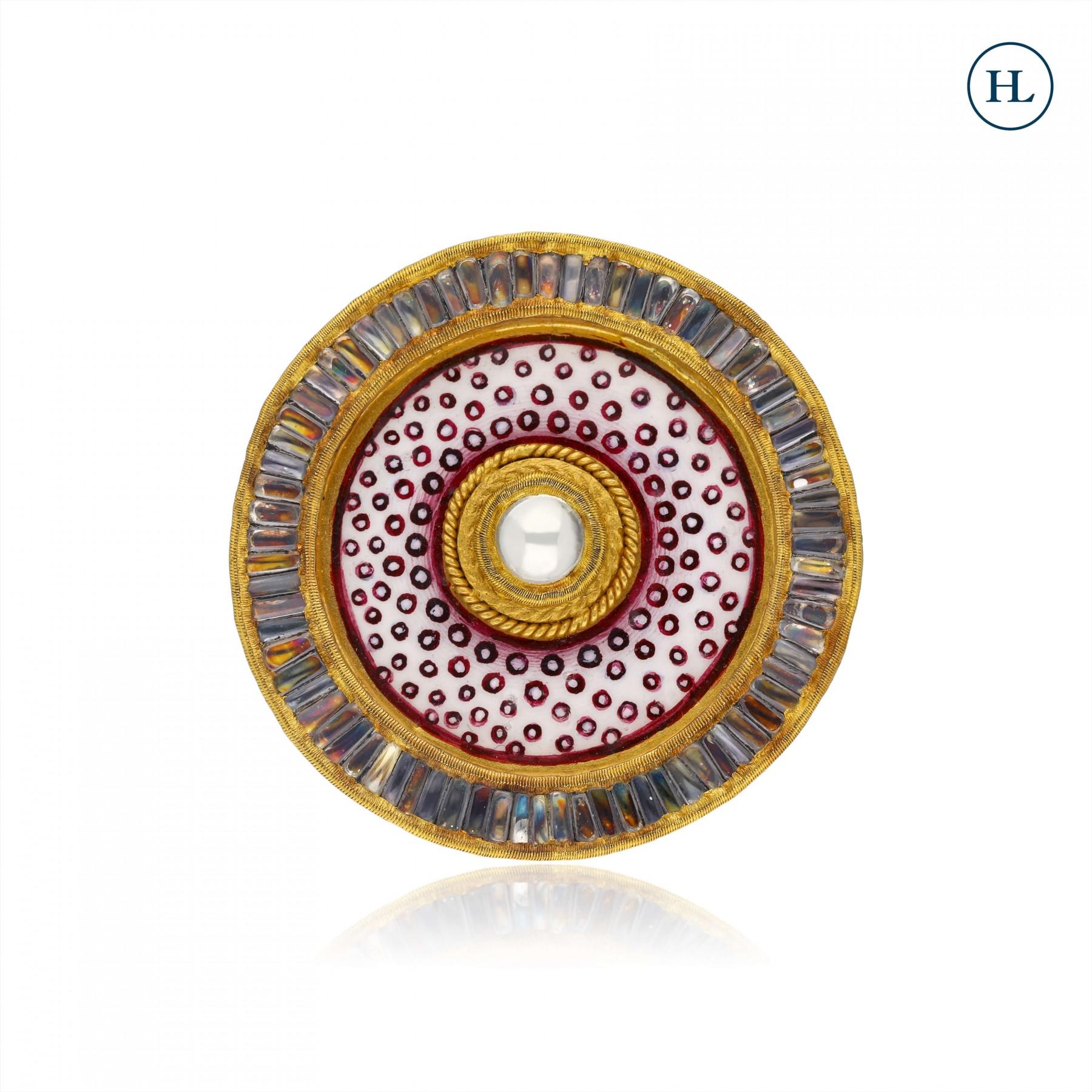 Enamel Gold Ring