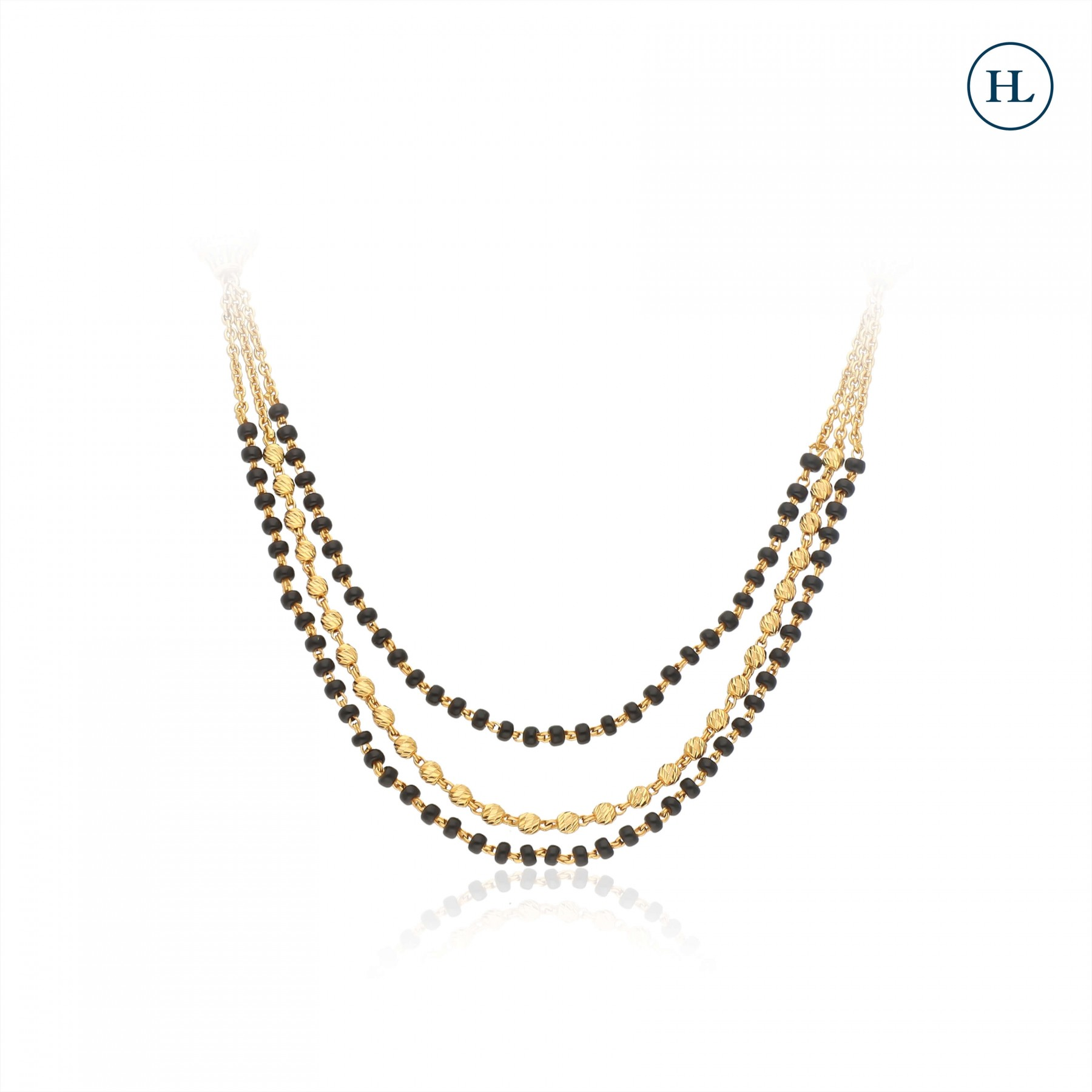 Three Lines Gold Mangalsutra