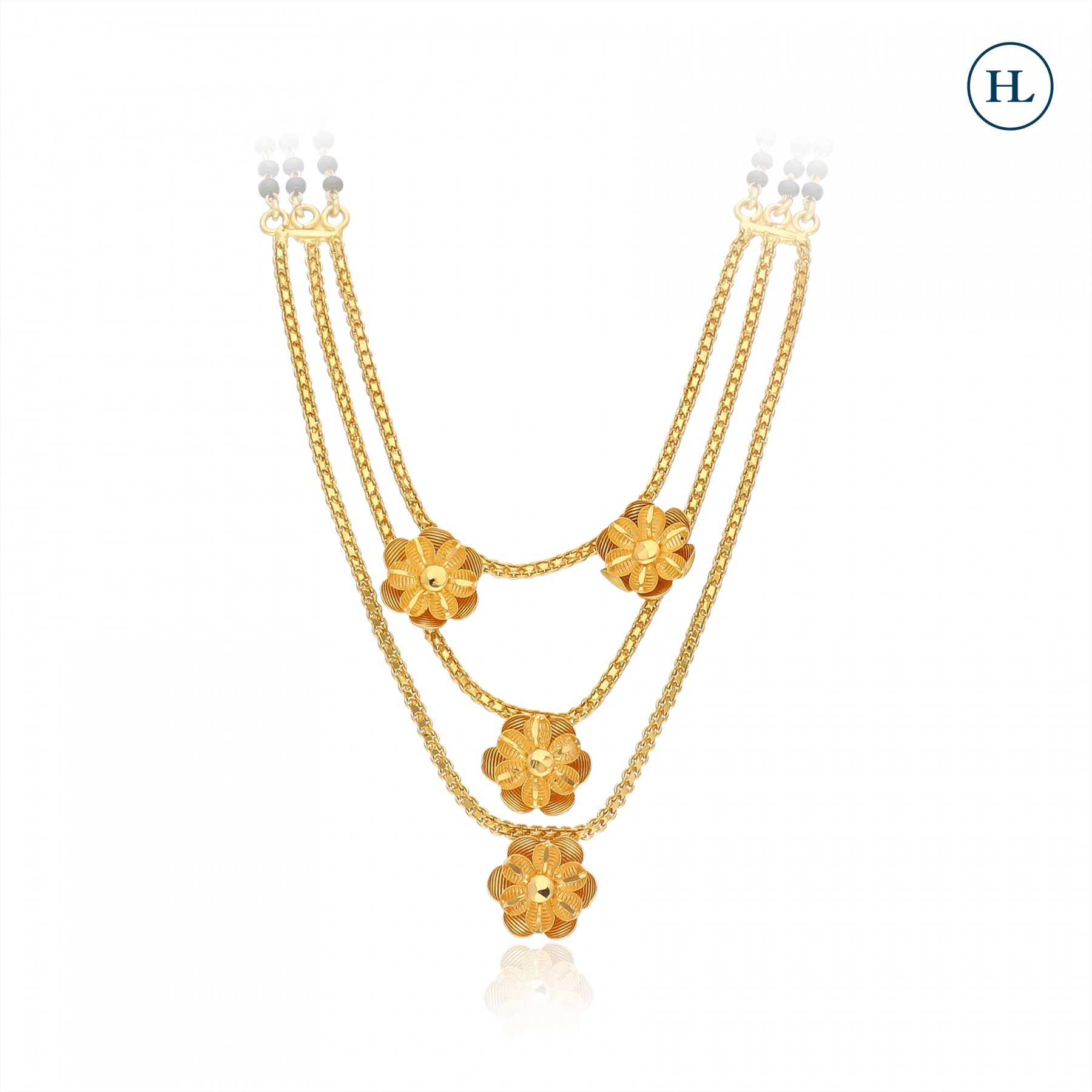 Floral Necklace Style Gold Mangalsutra
