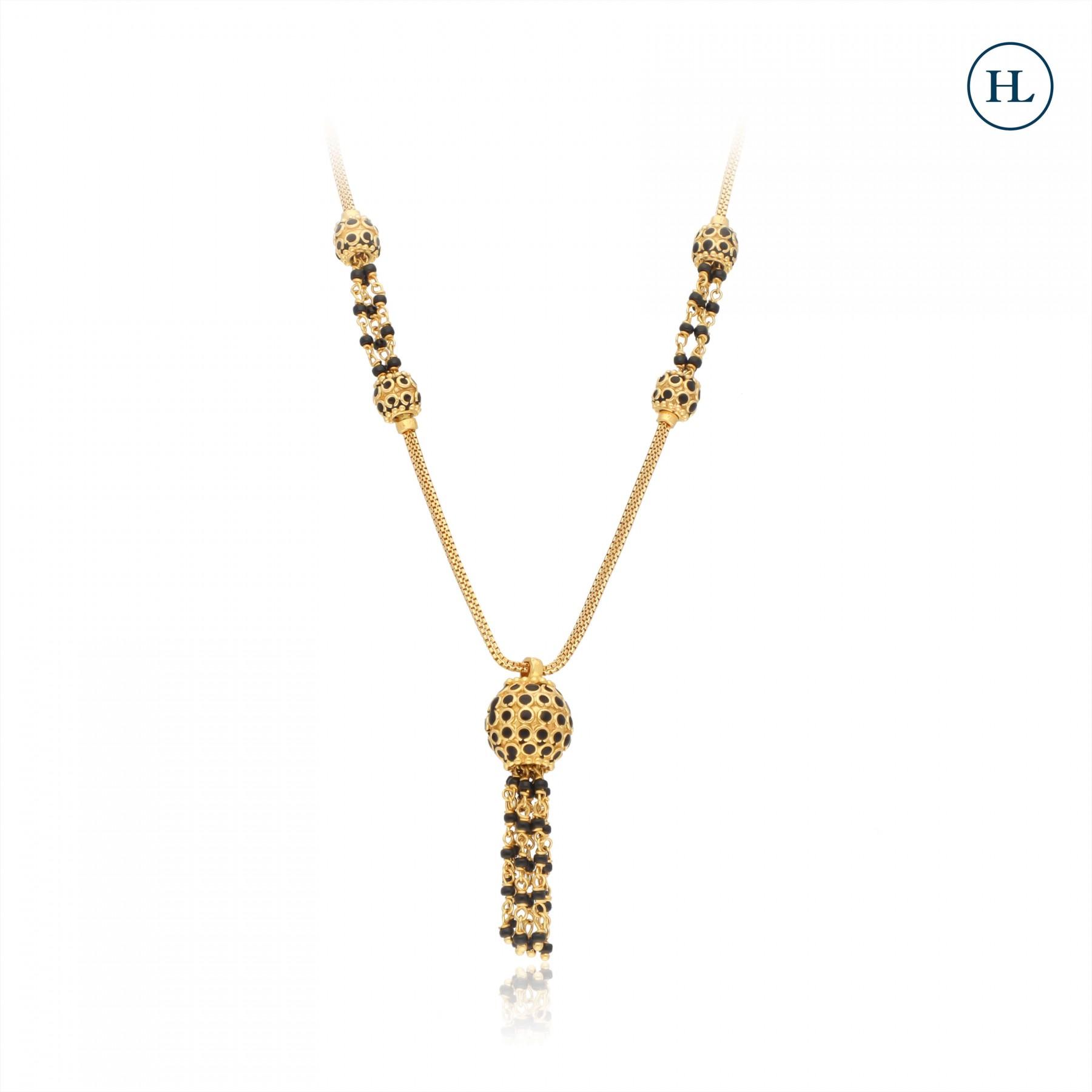 Hanging Ball Gold Mangalsutra