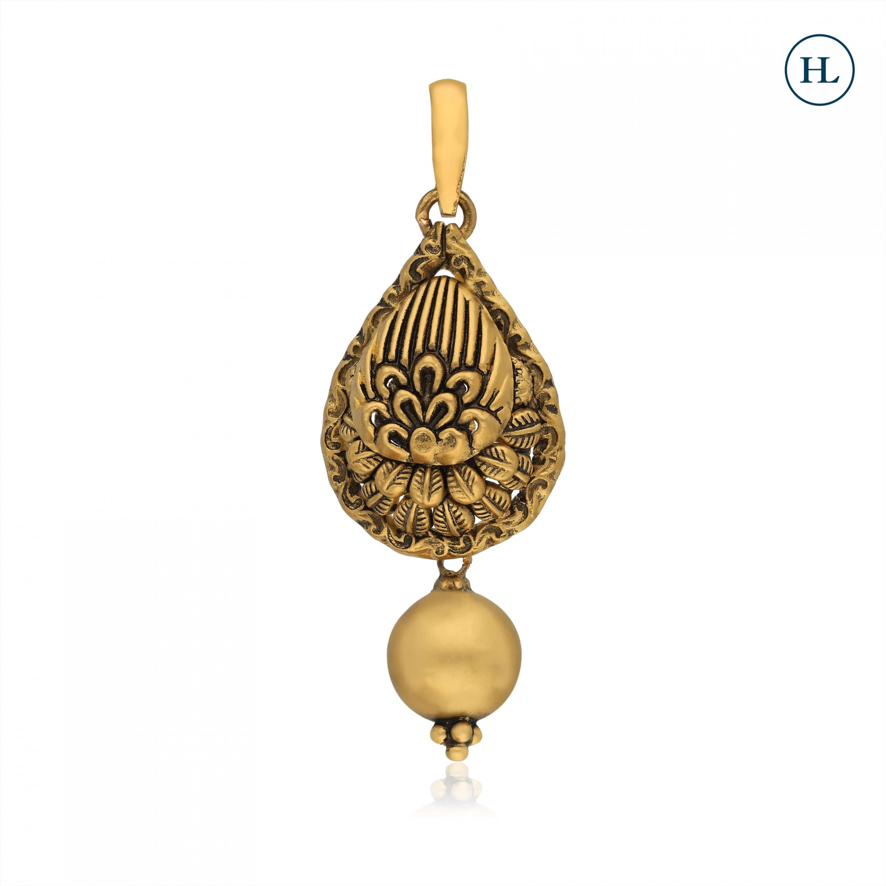 Antique-Styled Gold Pendant