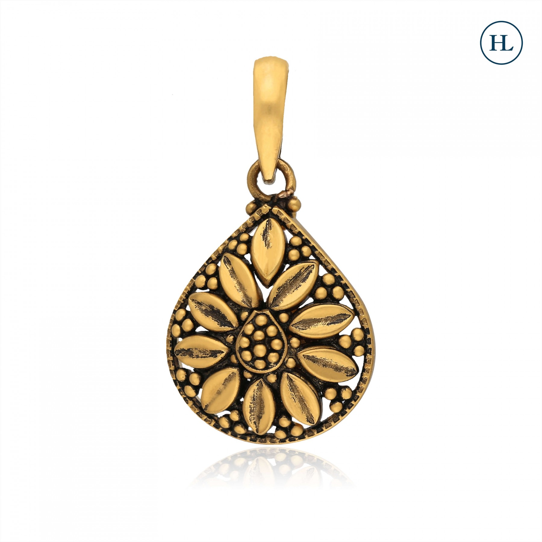 Antique-Styled Flower Gold Pendant