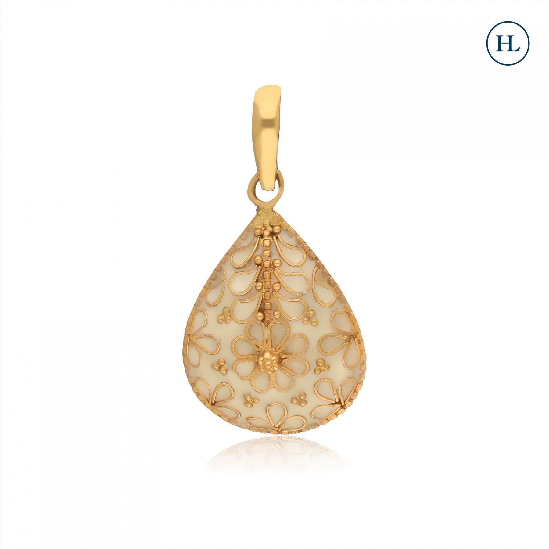 Enamel Gold Pendant