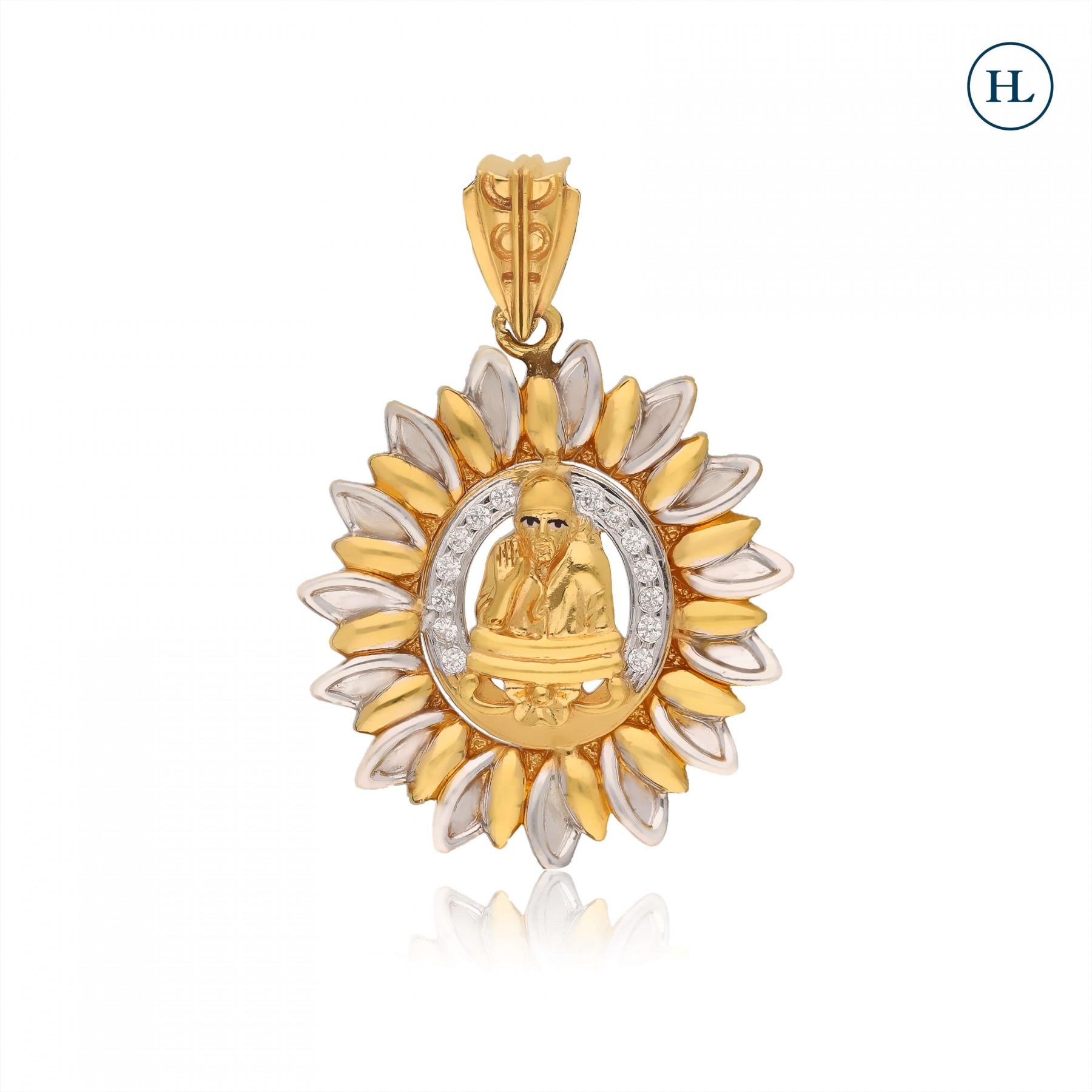 Zircon Sai Gold Pendant