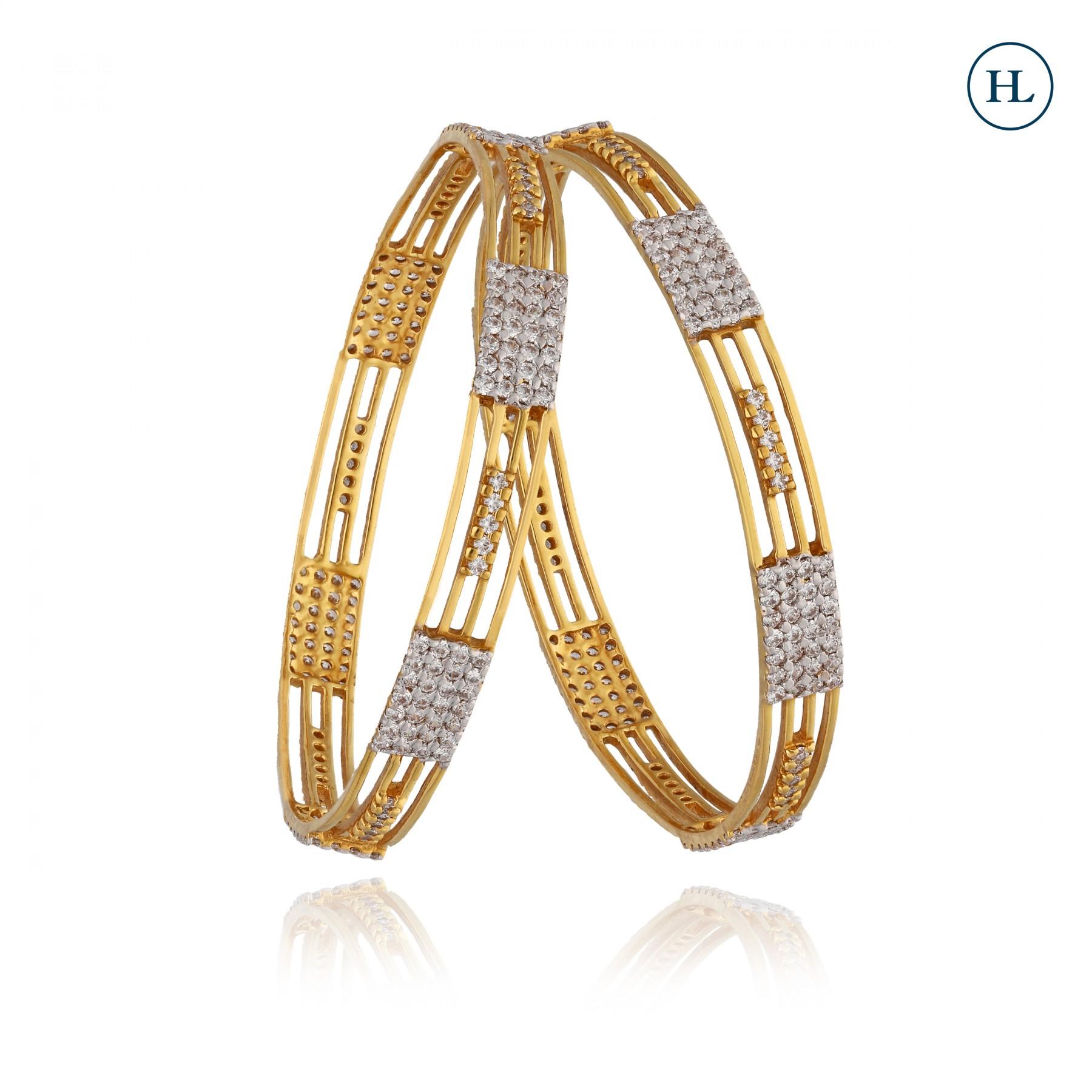 Zircon Gold Bangles