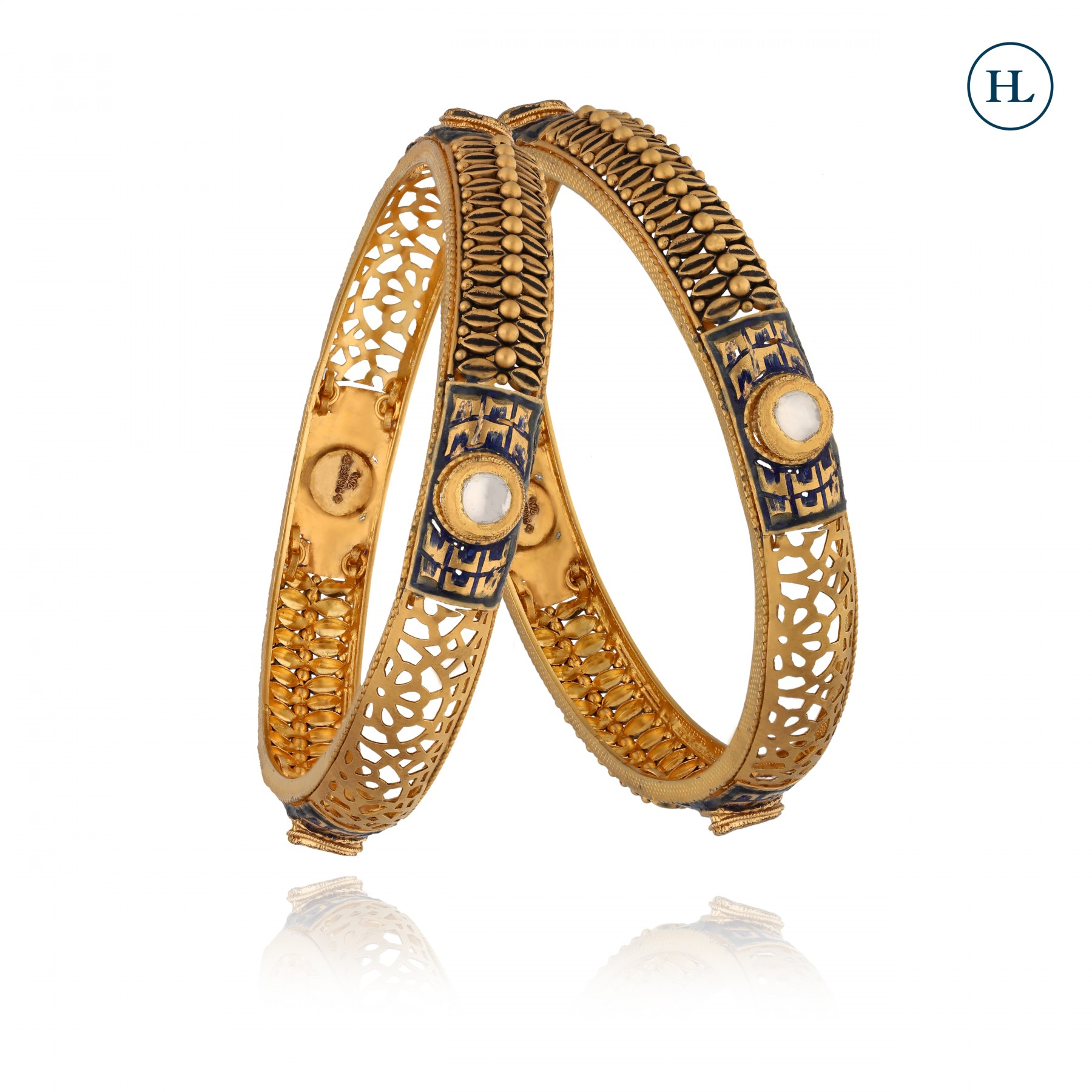 Antique-Styled Gold Bangles
