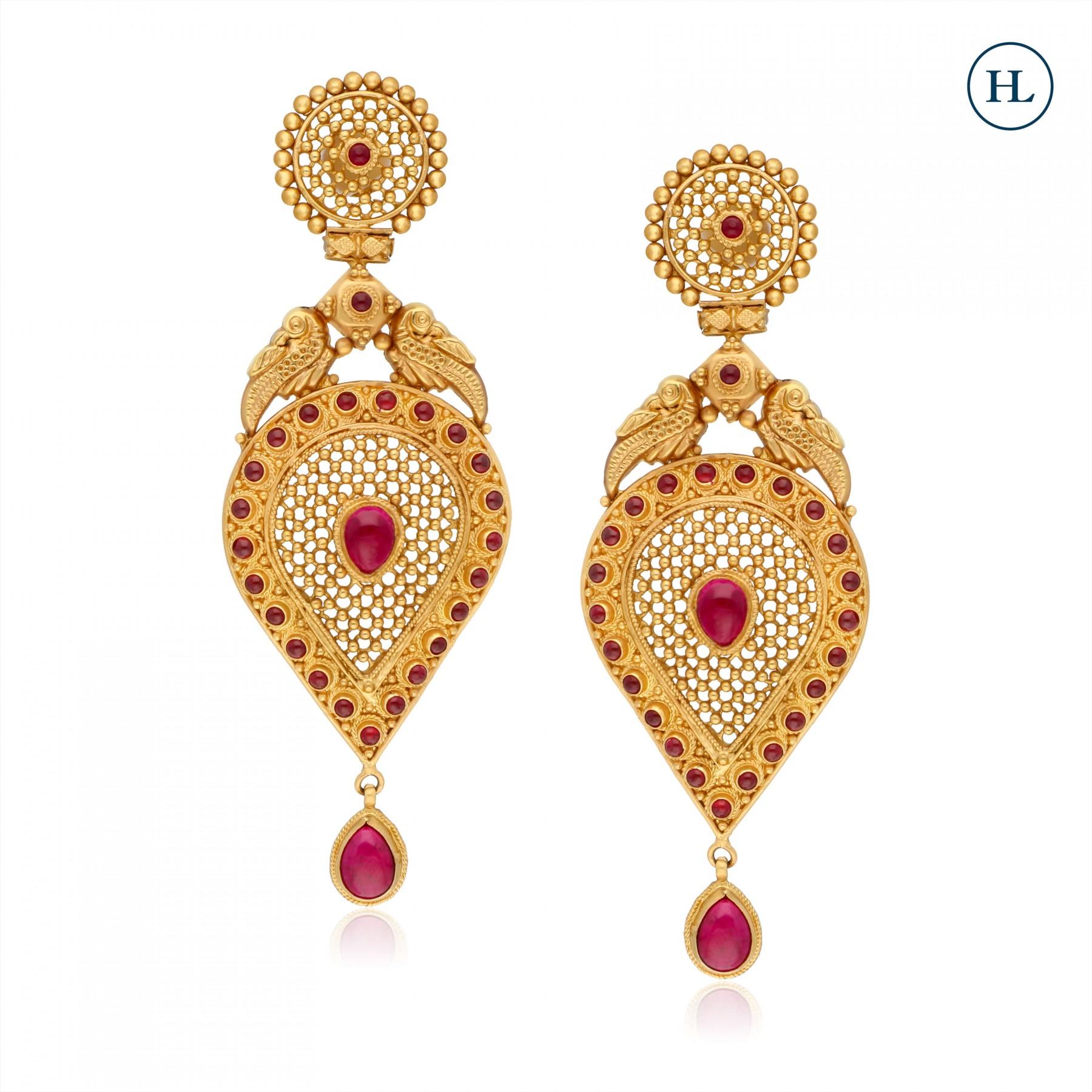 Drop Gold Earrings