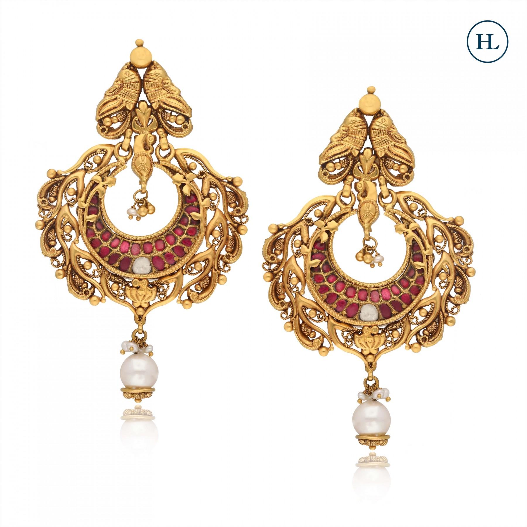 Polki & Gold Earrings