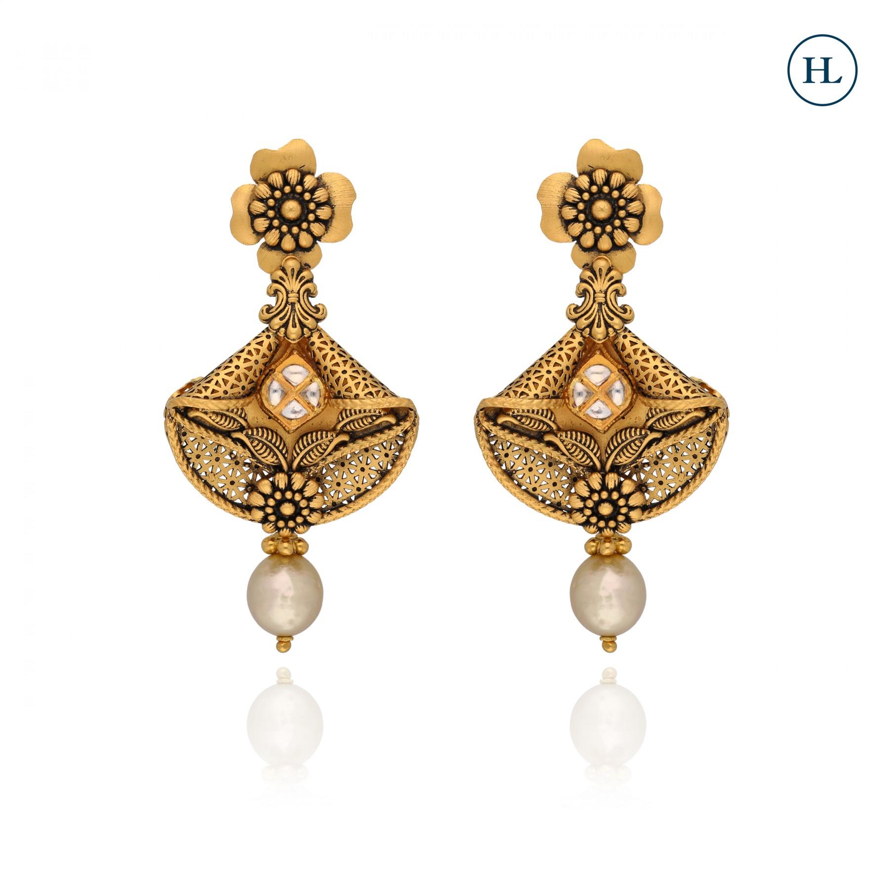 Pearl Danglers Earrings