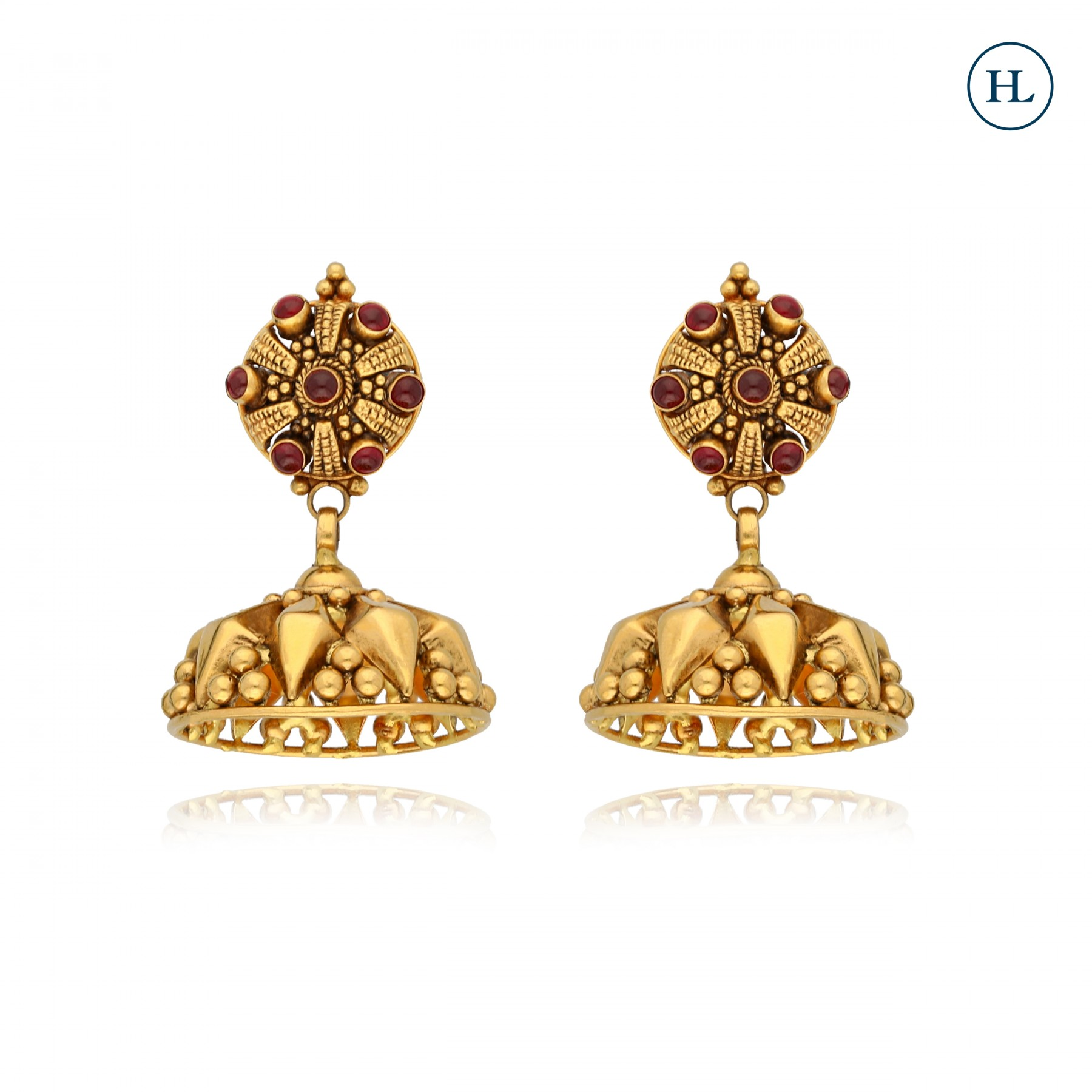 Gold Jhumki Earrings