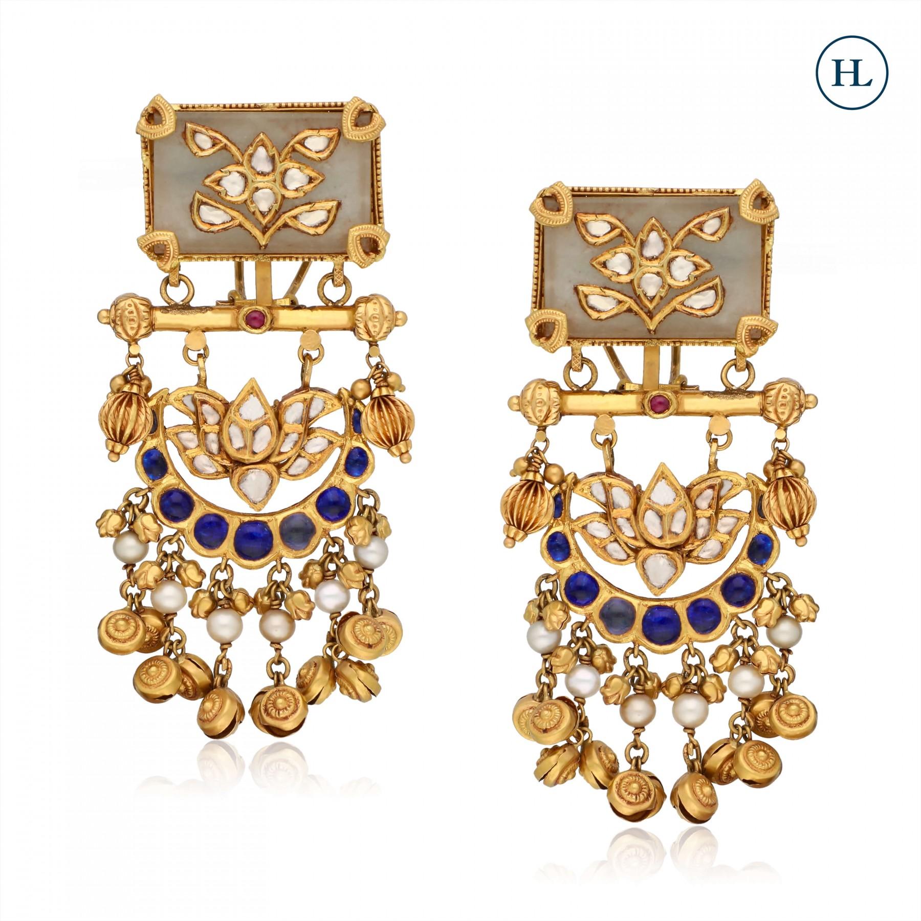 Kundan & Gold Earrings
