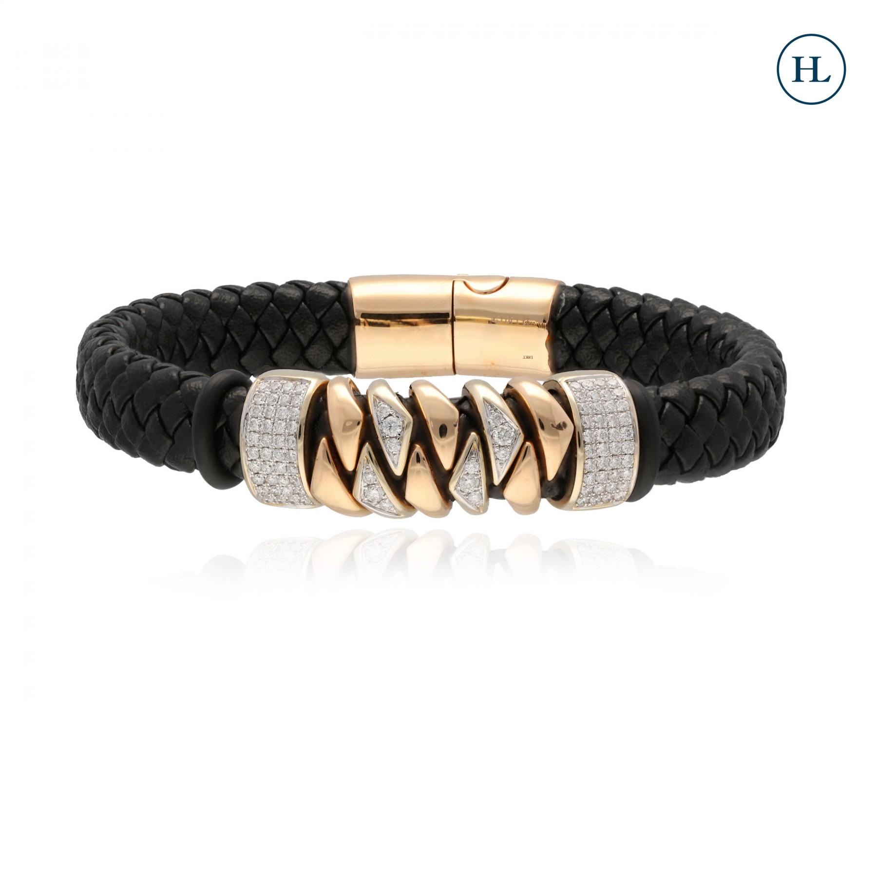 Diamond & Leather Bracelet