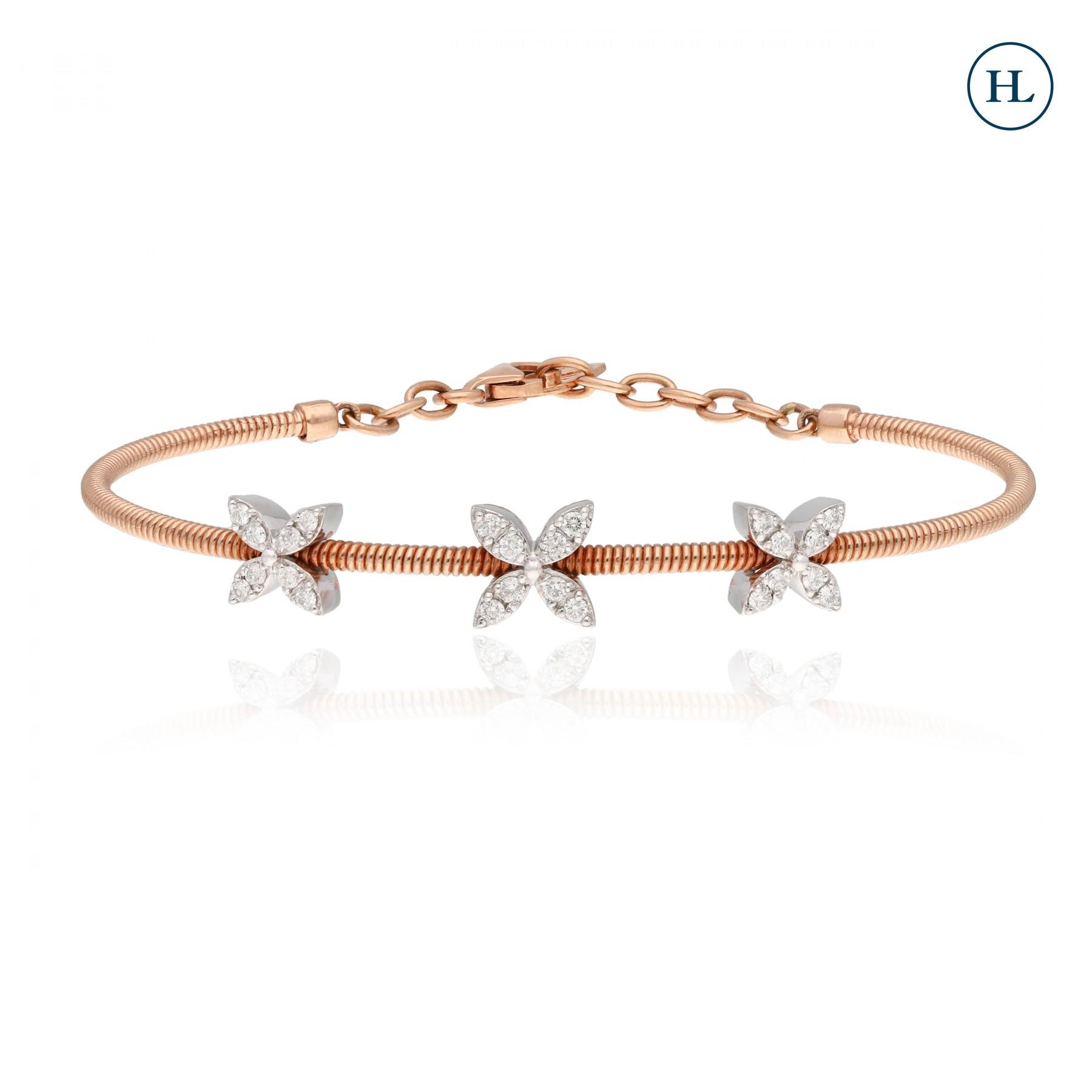 Three Flower Diamond Bracelet