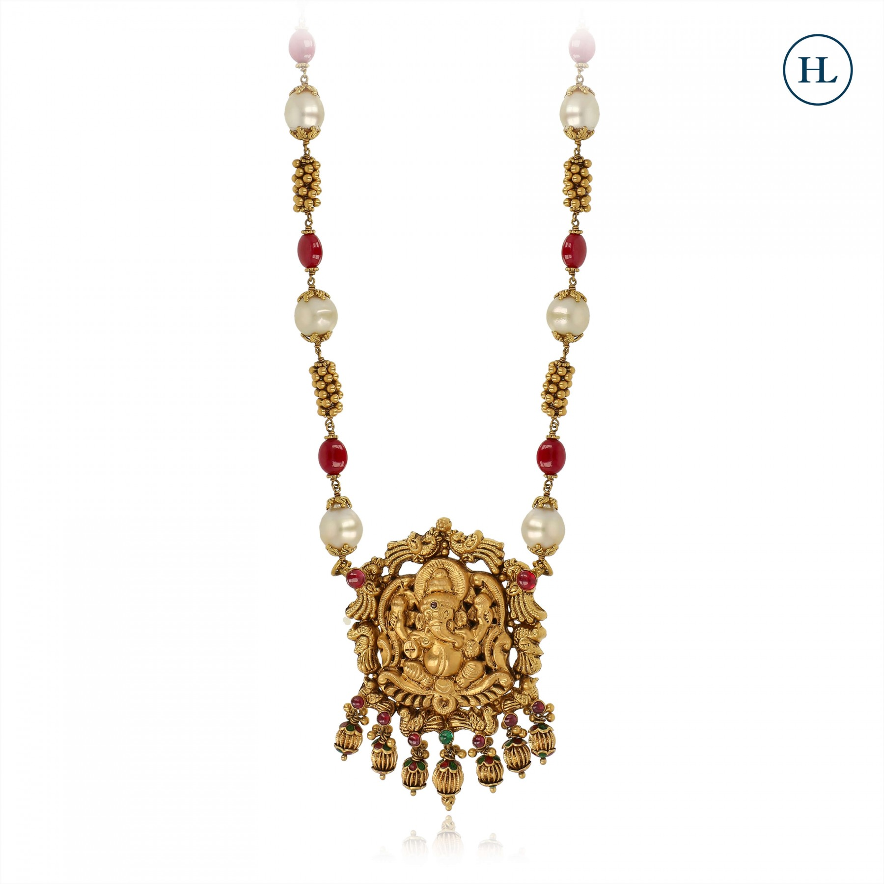 Temple Ruby & Gold Pendant