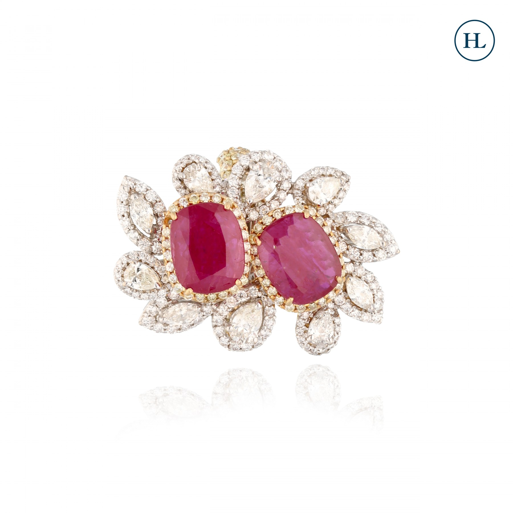 Marquise Diamond Ruby Ring