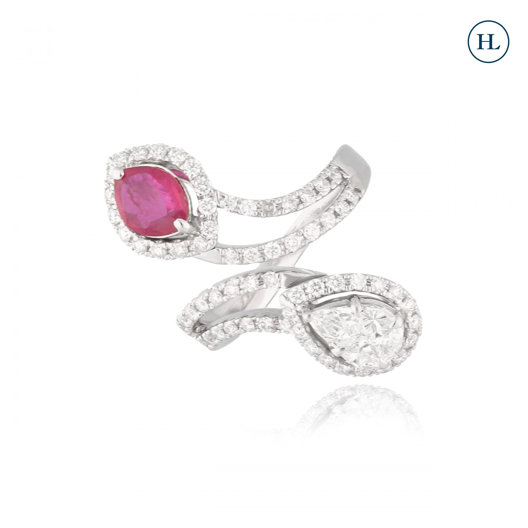 Two in One Ruby Diamond Ring