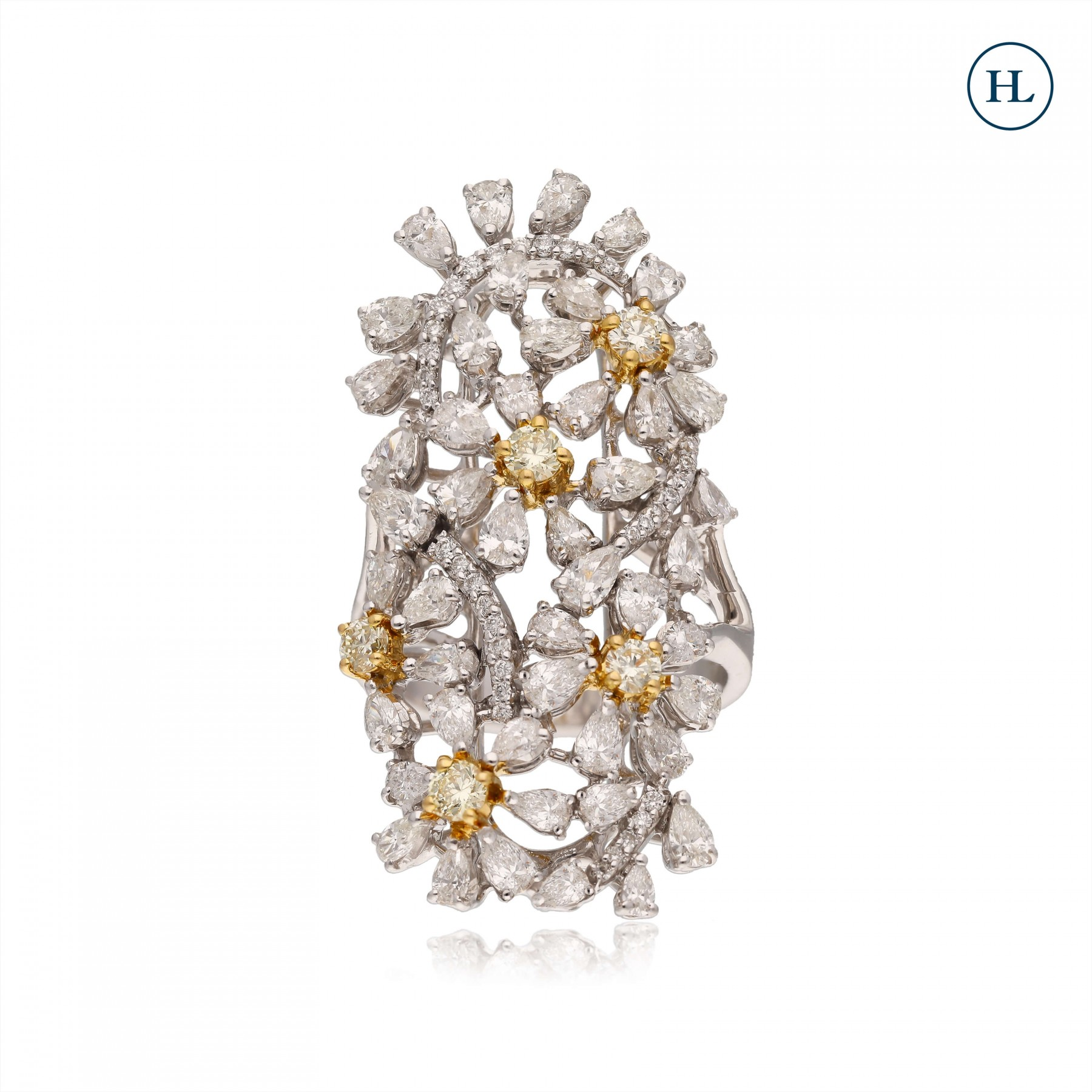 Dual Tone Diamond Ring