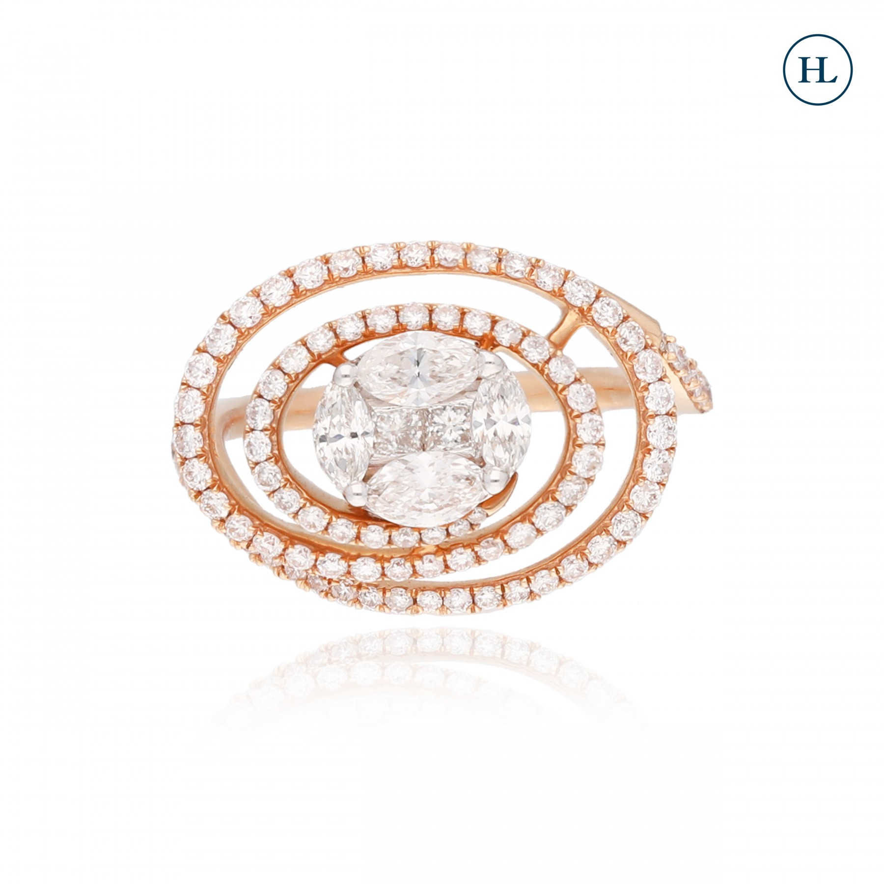 Spiral Diamond Ring