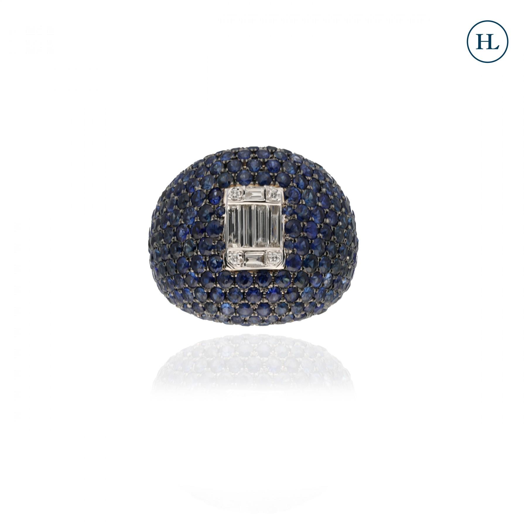 Diamond & Blue Sapphire Ring