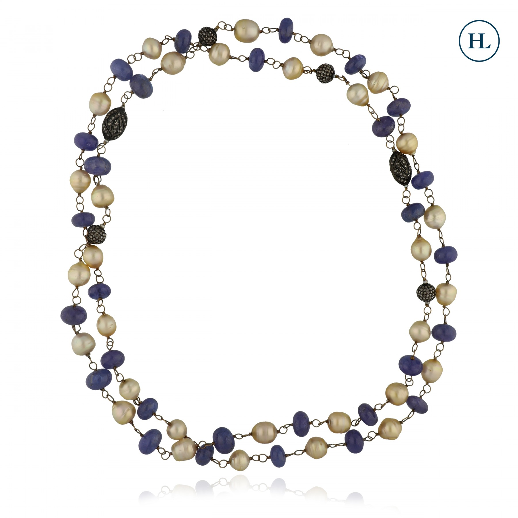 Pearl & Tanzanite Diamond Chain