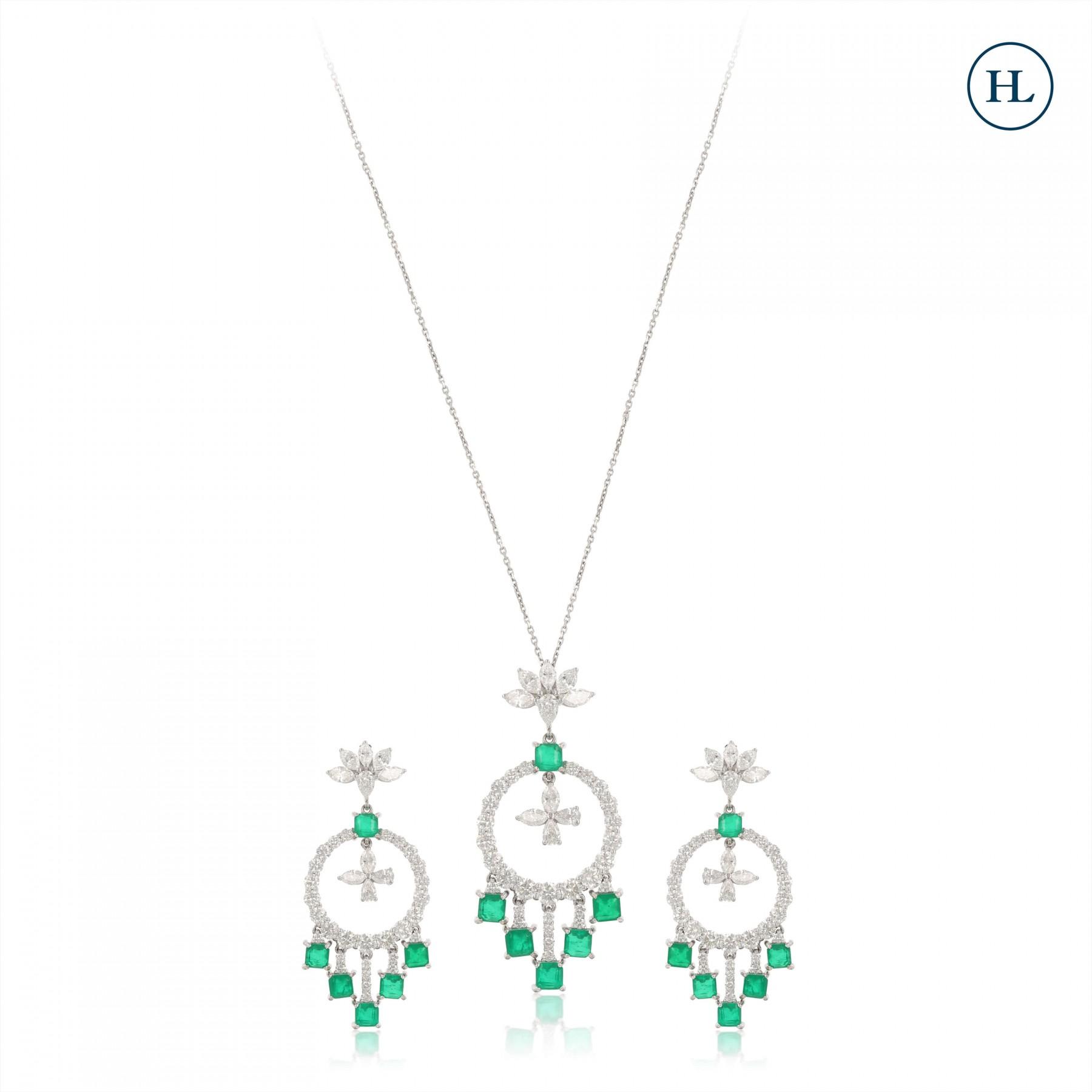 Onyx & Diamond Pendant Set