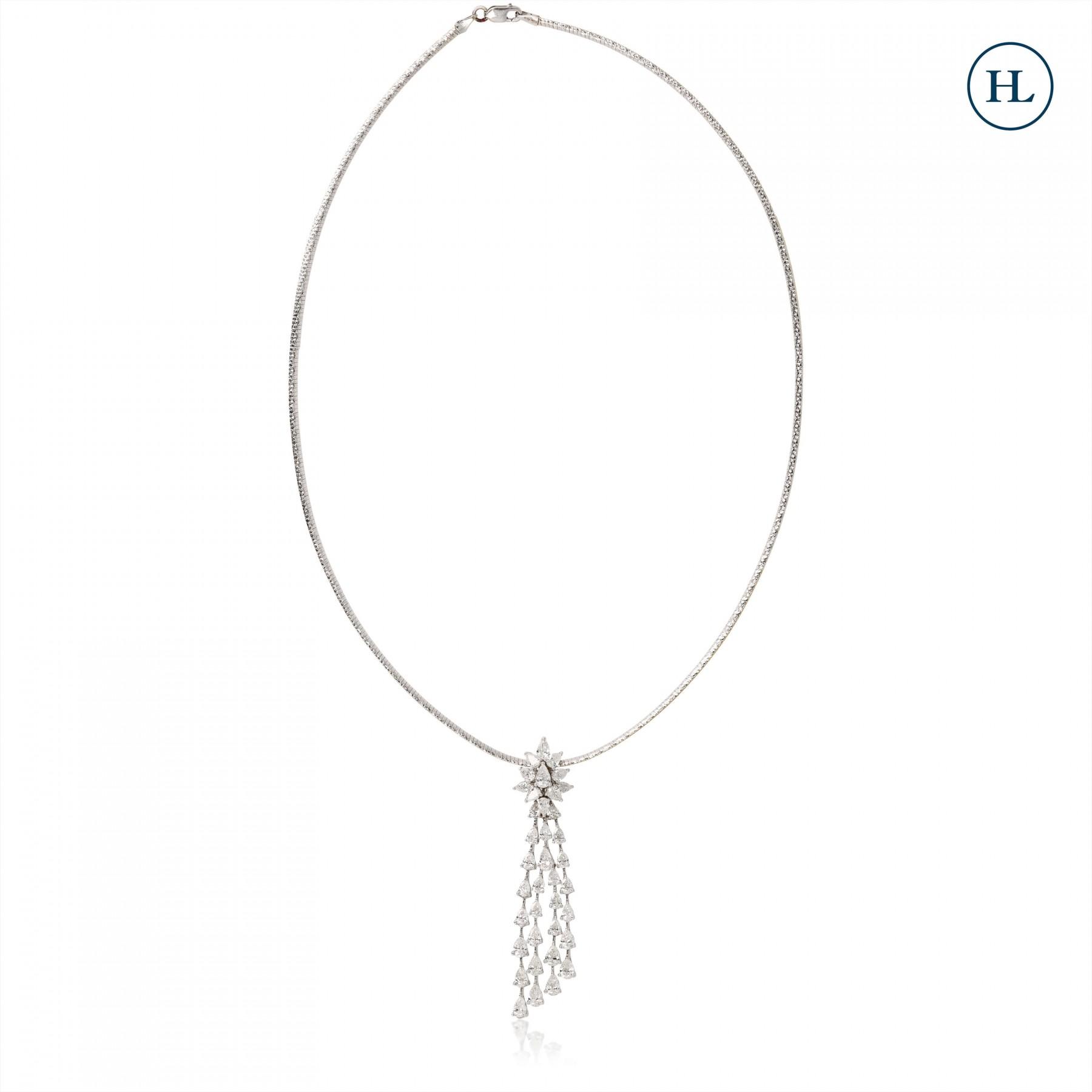 Four Line Diamond Pendant