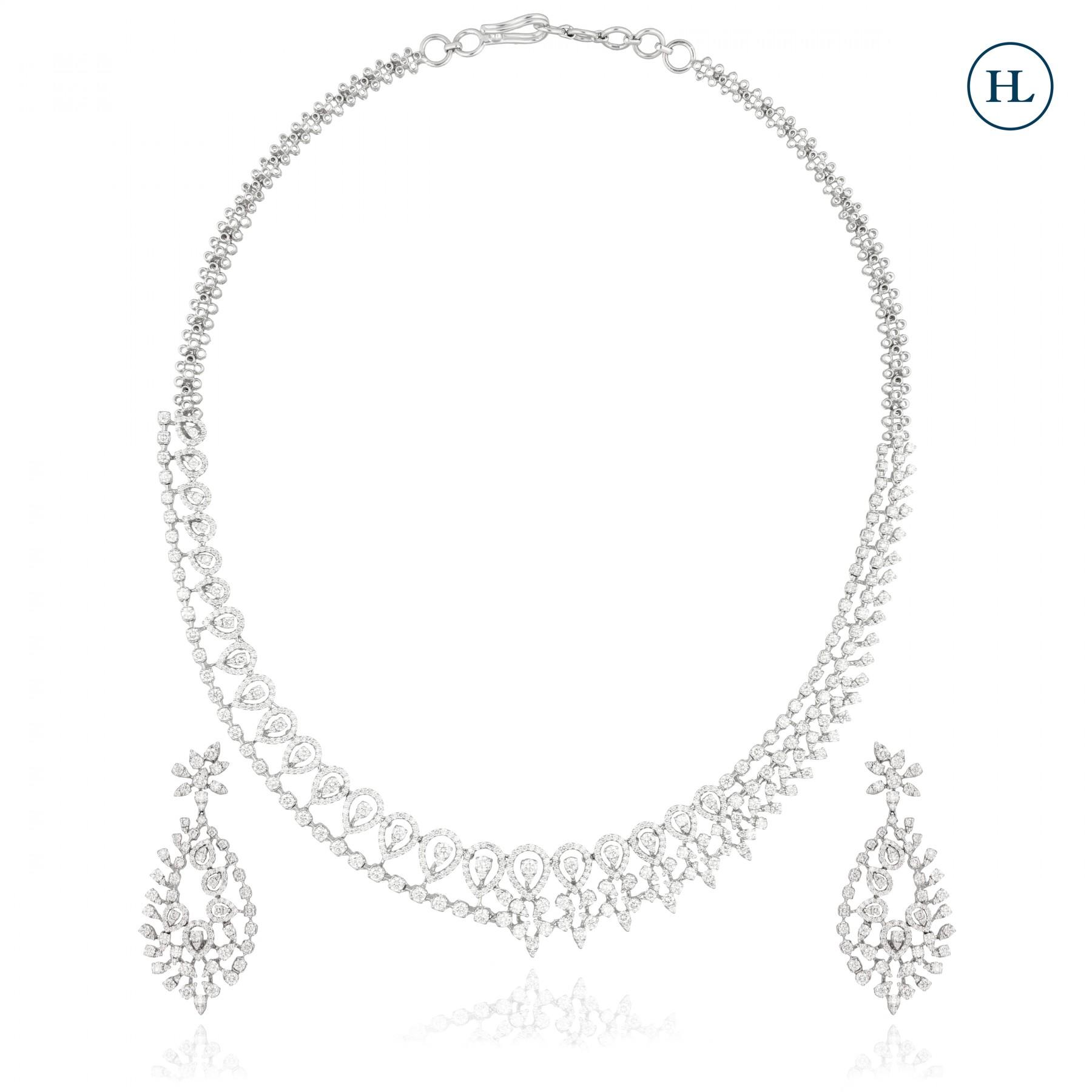 Petal Diamond Necklace Set