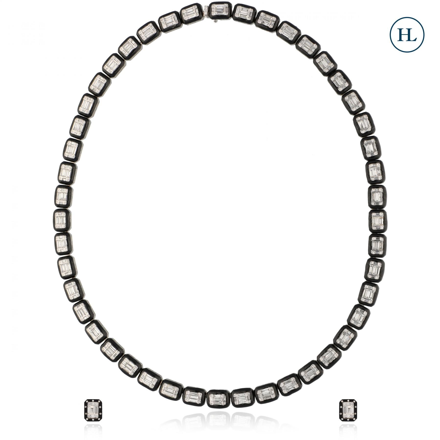 Eternity Diamond Chain Necklace Set