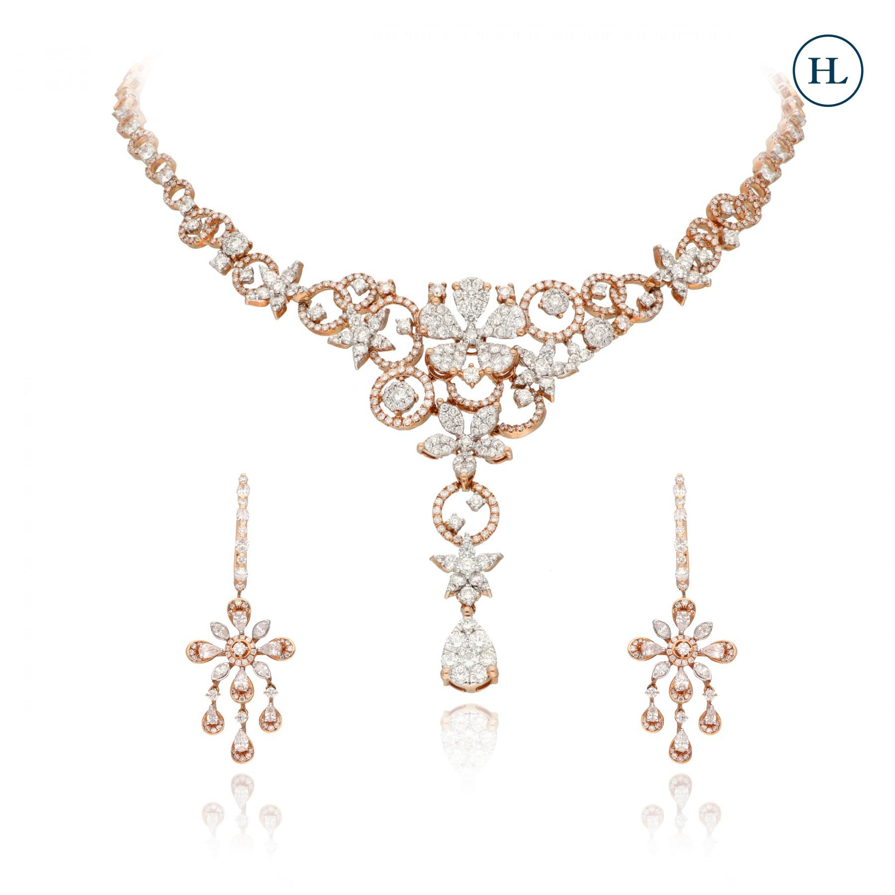 Gardenai Necklace Diamond Set