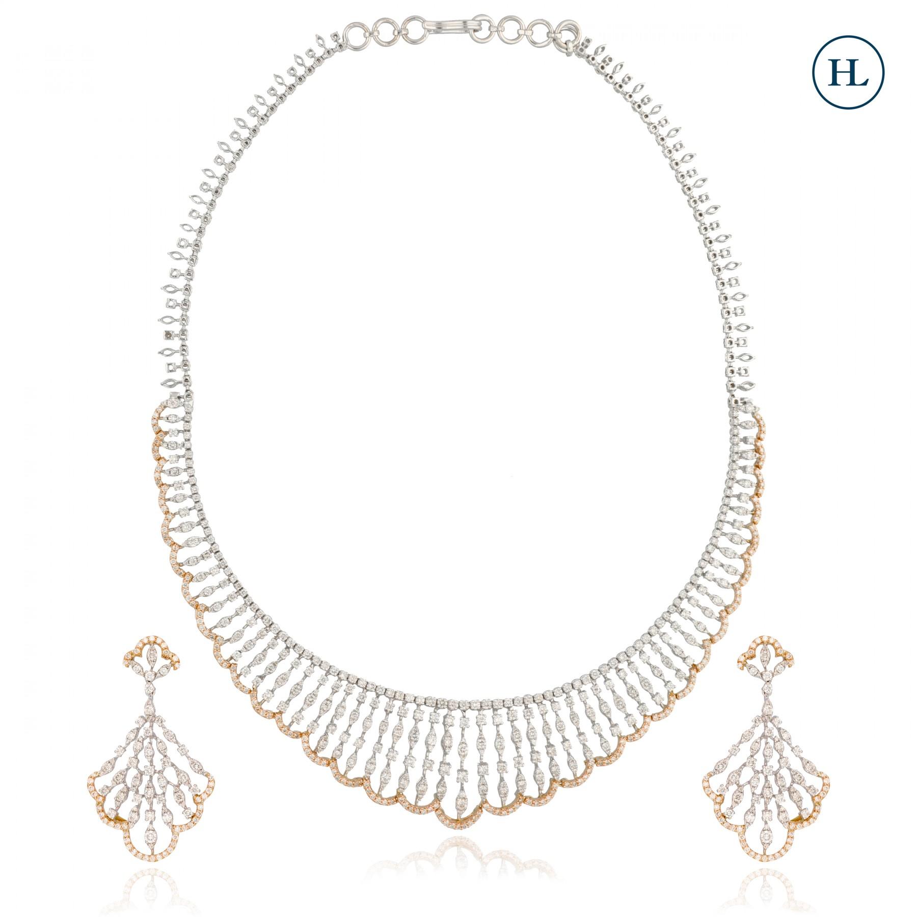 Spikes Diamond Necklace Set