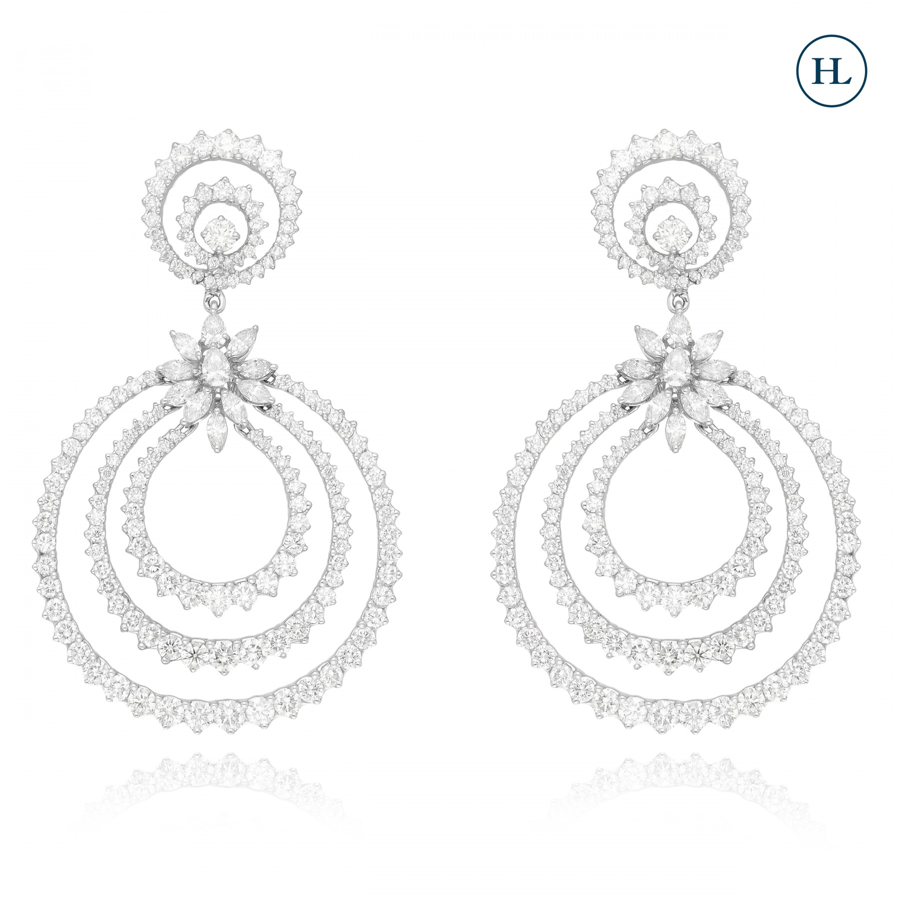 Diamond Loop Earrings
