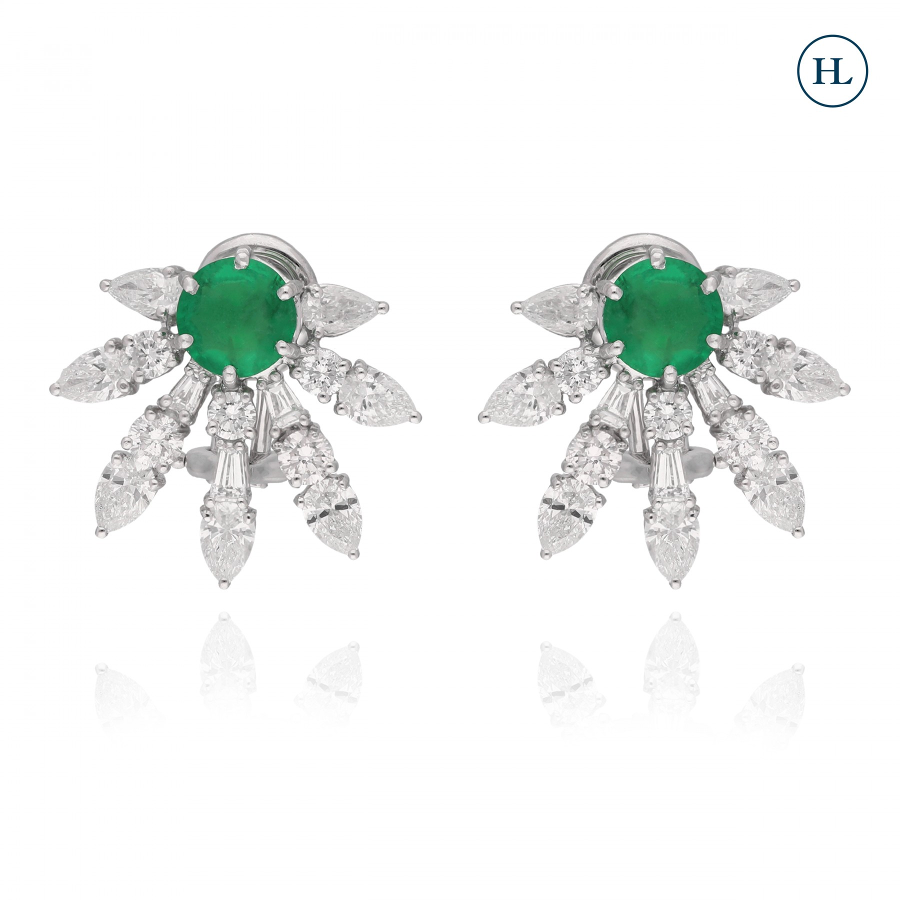 Diamond & Emerald Studs
