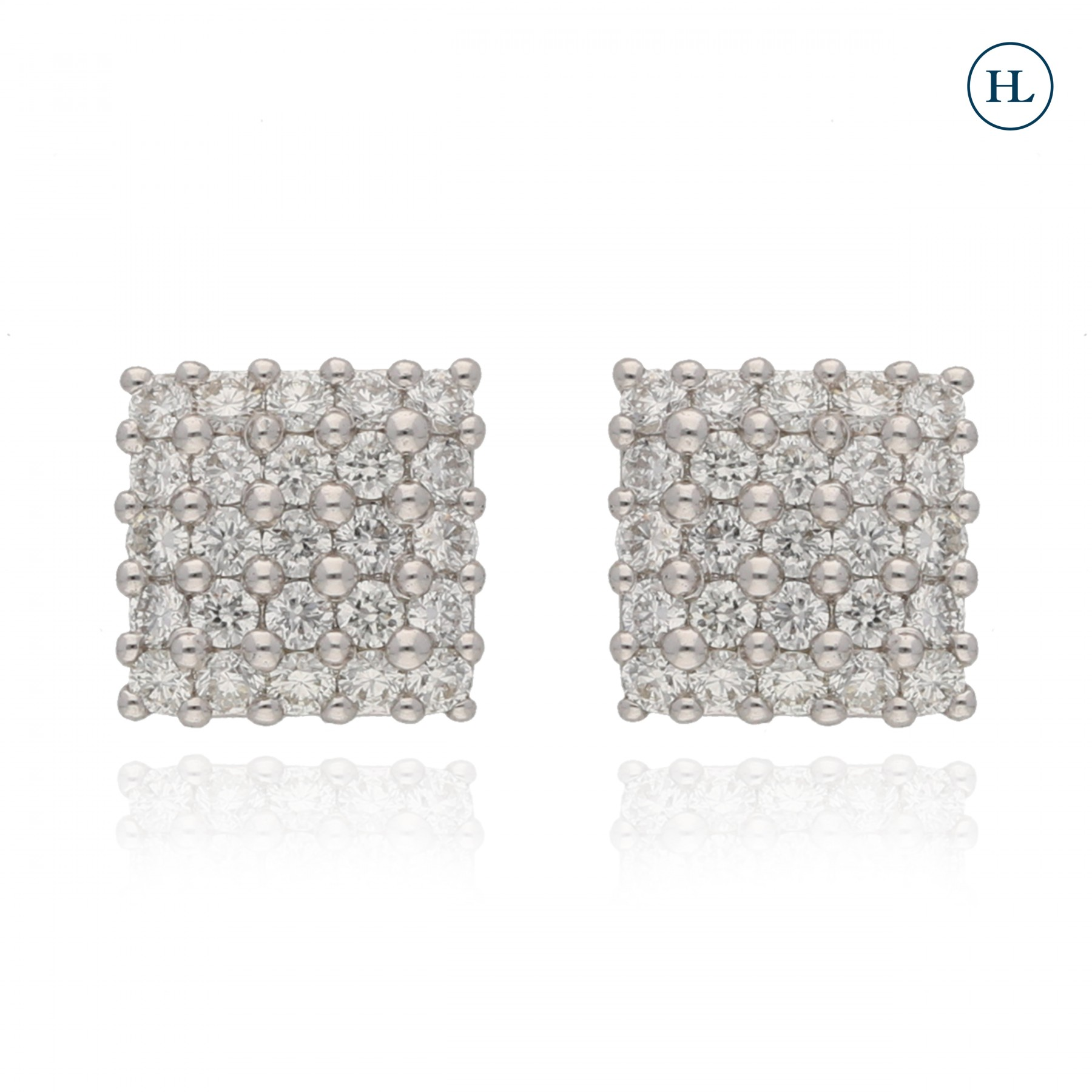 Diamond Square Studs