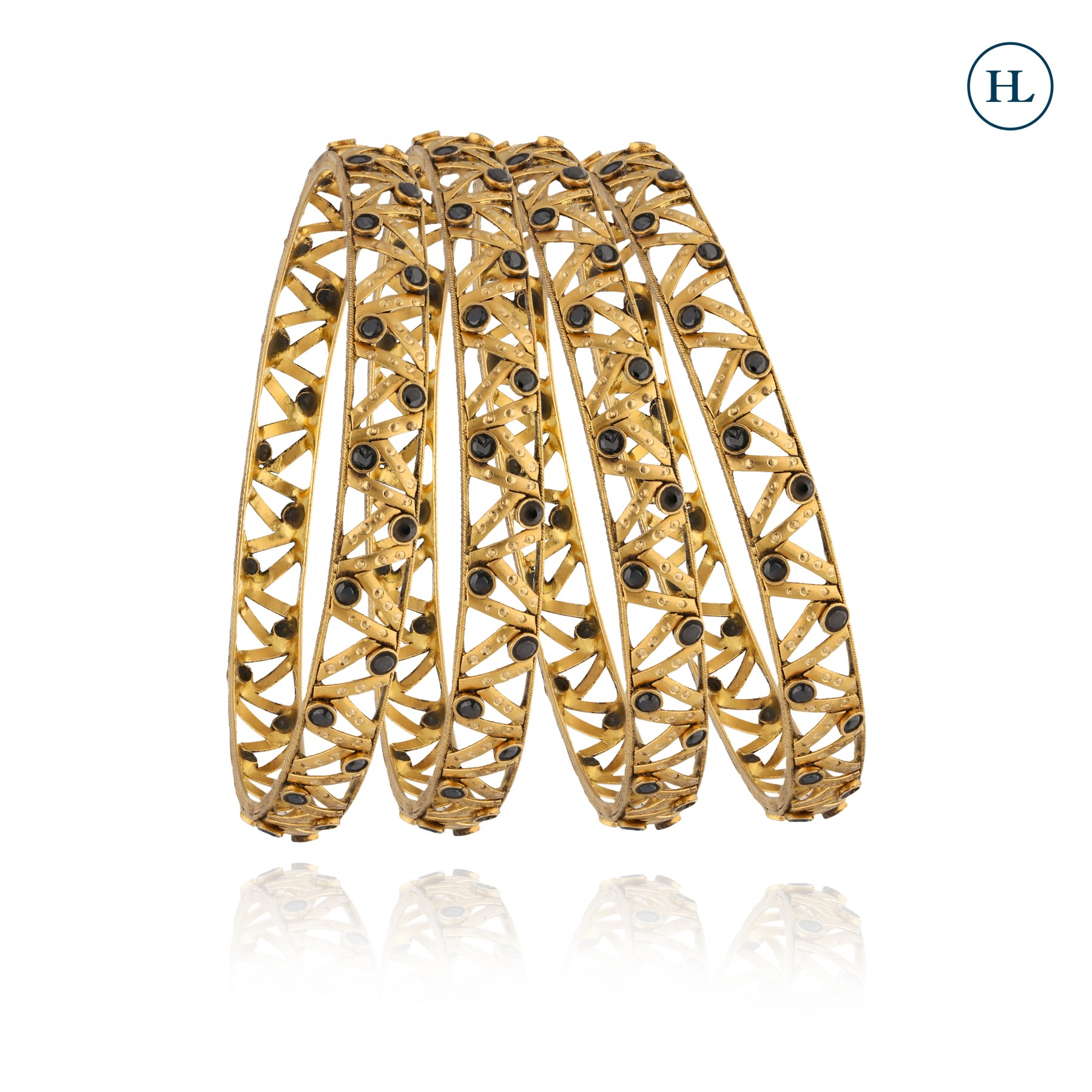 ZigZag Gold Bangles